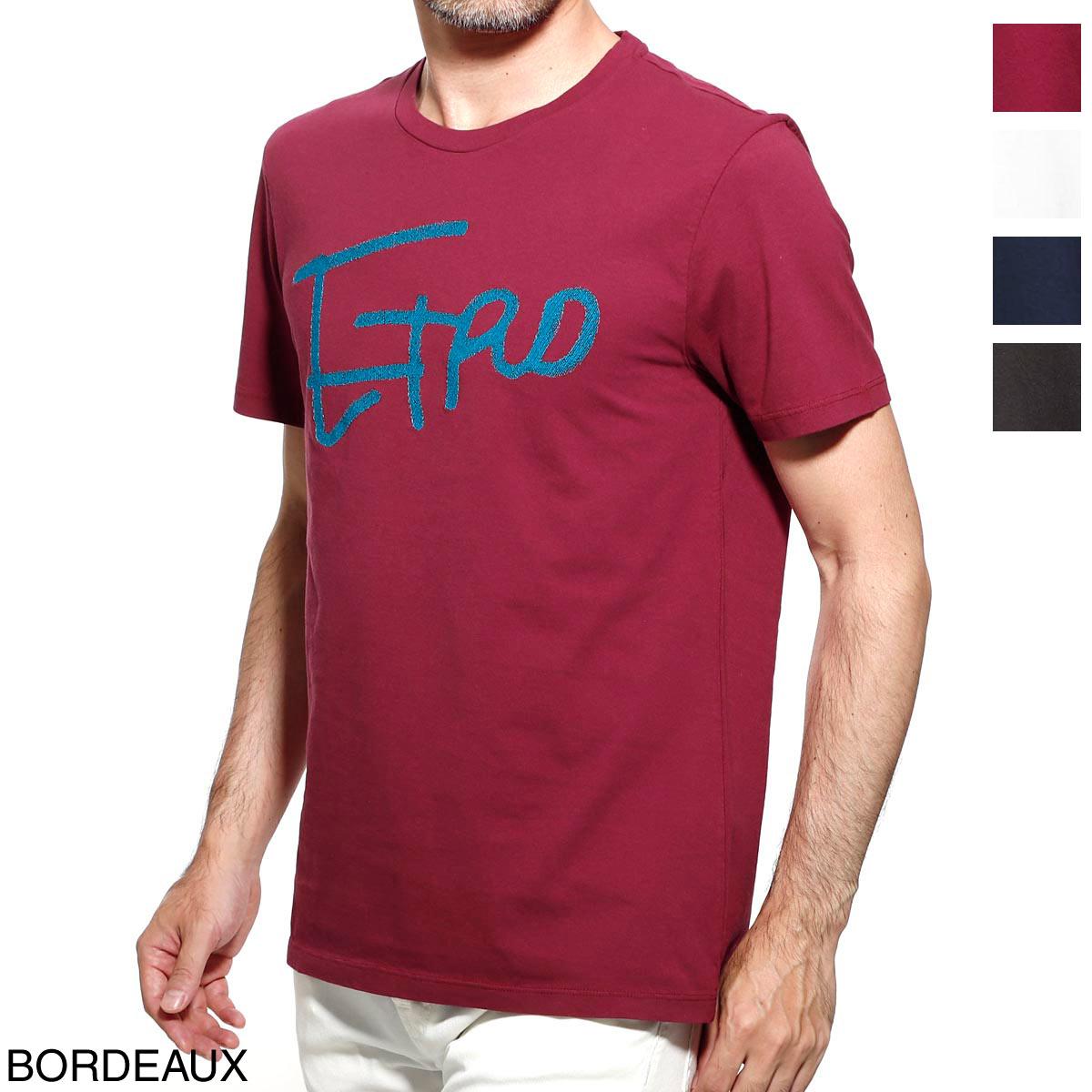 【アウトレット】エトロ ETRO クルーネック Tシャツ メンズ カジュアル トップス インナー スポーツ 半袖 大きいサイズあり 1y020 9727 302 T-SHIRT M/C REGULAR【返品送料無料】【ラッピング無料】【190717】