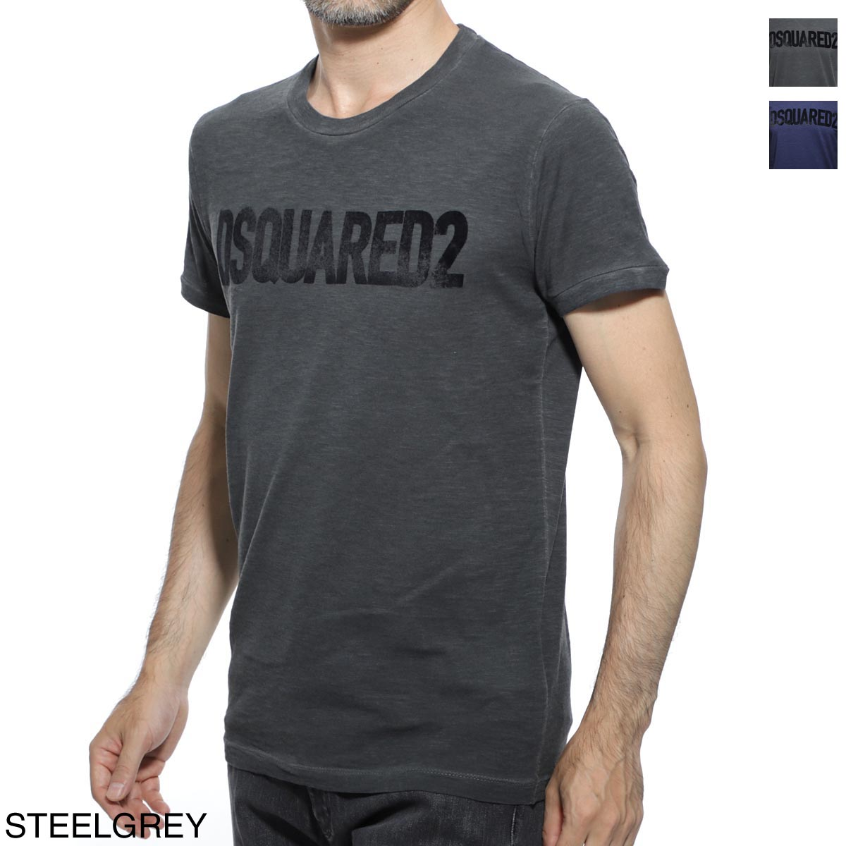 ディースクエアード DSQUARED2 ラウンドネック Tシャツ メンズ カジュアル トップス インナー 半袖 s74gd0587 s22146 814 PRINT T-SHIRT【あす楽対応_関東】【返品送料無料】【ラッピング無料】