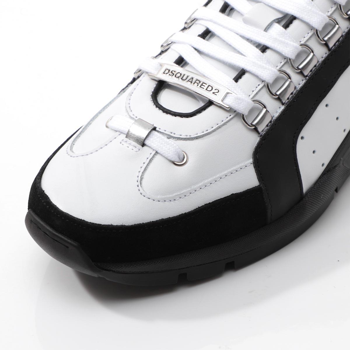 ディースクエアード DSQUARED2 スニーカー ホワイト メンズ シューズ 靴 カジュアル 大きいサイズあり snm0404 065b0001 m072 551 SNEAKERS あす楽対応 関東返品送料無料ラッピング無料zSMVpLqGU