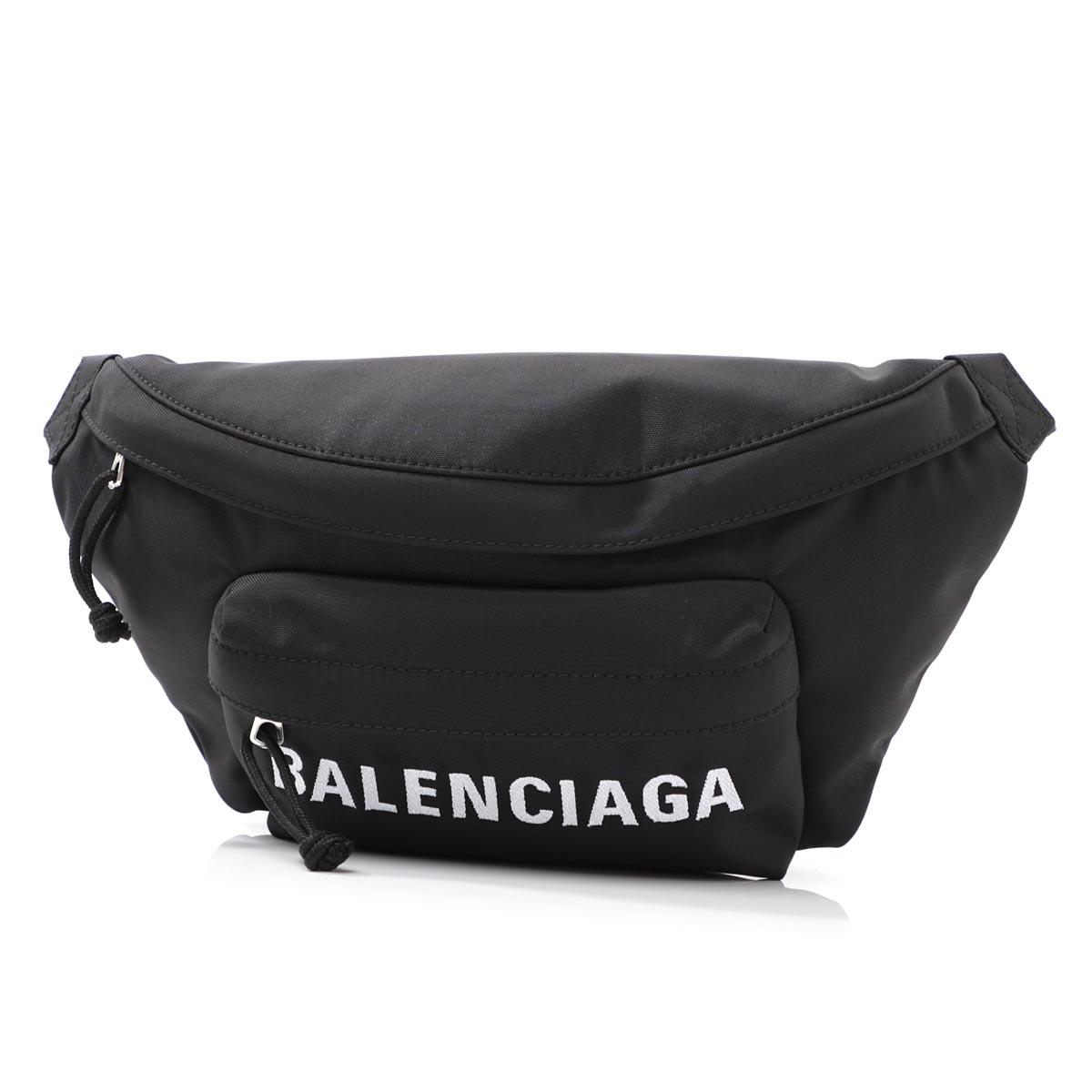 バレンシアガ BALENCIAGA ボディバッグ ブラック メンズ 533009 hpg1x 1090 WHEEL BELT PACK ウェール ベルト パック【_関東】【返品送料無料】【ラッピング無料】
