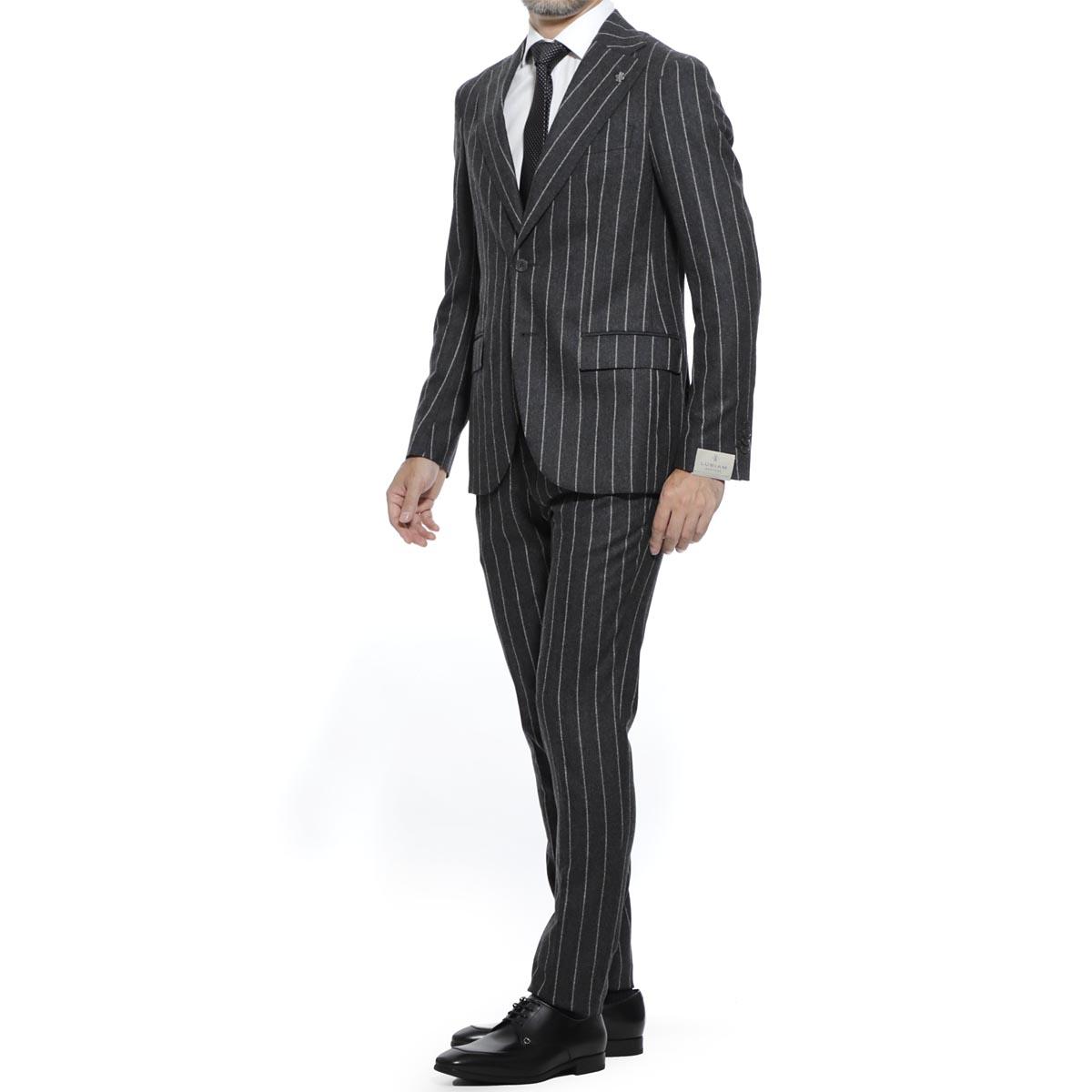 【アウトレット】ルビアム LUBIAM シングル 2つボタンスーツ グレー メンズ テーラード ジャケット カジュアル 大きいサイズあり 3148 93021 1 SOFT&SLIM SINGLE SUIT【あす楽対応_関東】【返品送料無料】