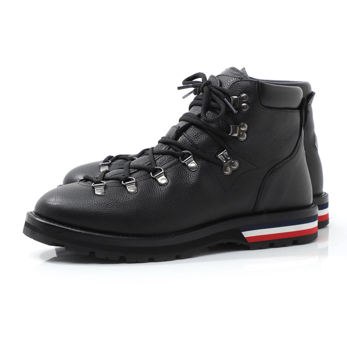 【アウトレット】モンクレール MONCLER ブーツ ブラック メンズ カジュアル レザー 大きいサイズあり peak 1017500 02s0g 999 PEAK【あす楽対応_関東】【返品送料無料】【ラッピング無料】