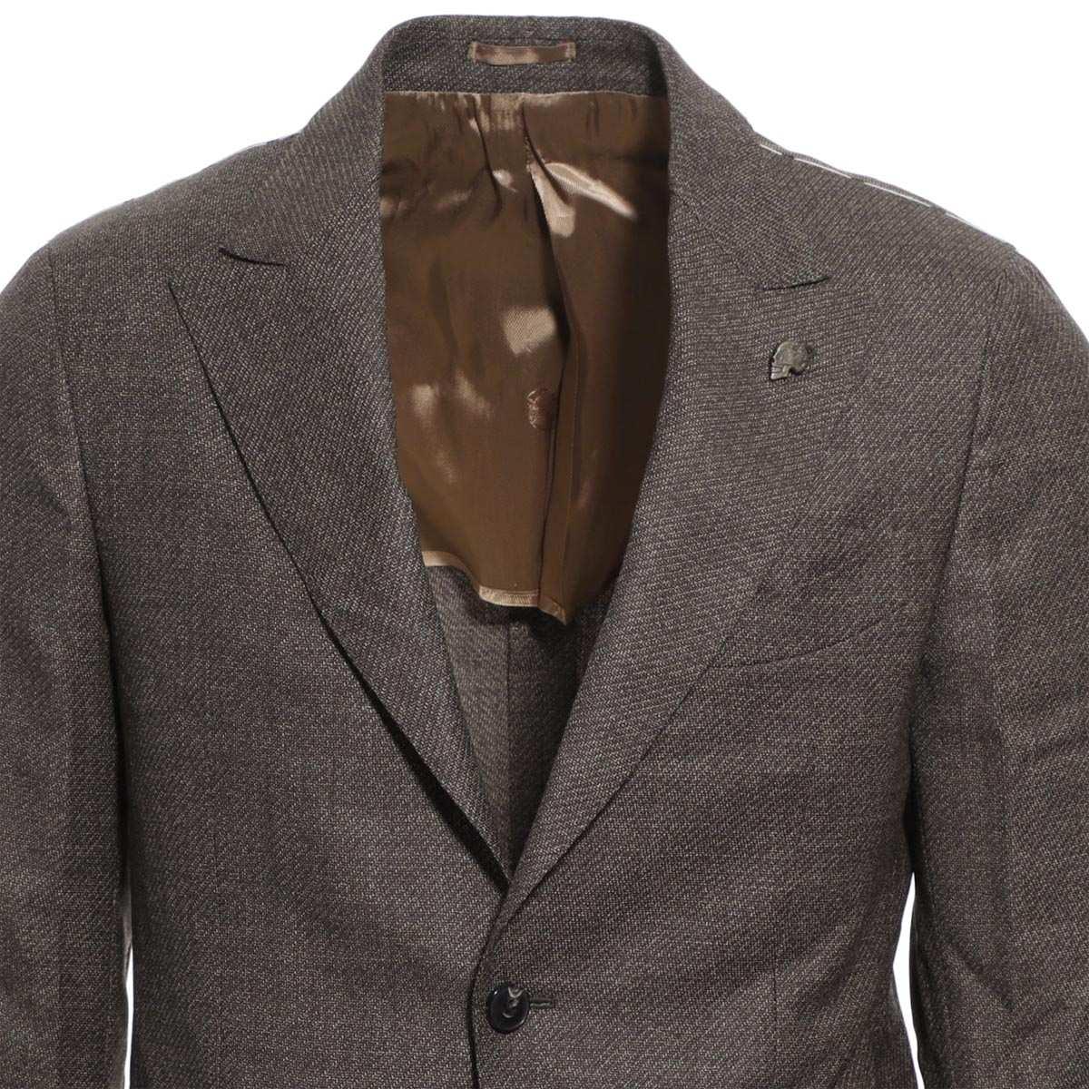 ガブリエレ パジーニ Gabriele Pasini 2つボタン シングルジャケット ブラウン メンズ テーラード ジャケット カジュアル g14067 gp14416 12 SINGLE JACKET【あす楽対応_関東】【返品送料無料】【ラッピング無料】