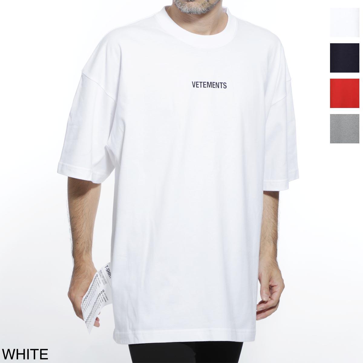 ヴェトモン VETEMENTS クルーネック Tシャツ メンズ カジュアル トップス インナー uah20tr611 white LOGO T-SHIRT【あす楽対応_関東】【返品送料無料】【ラッピング無料】