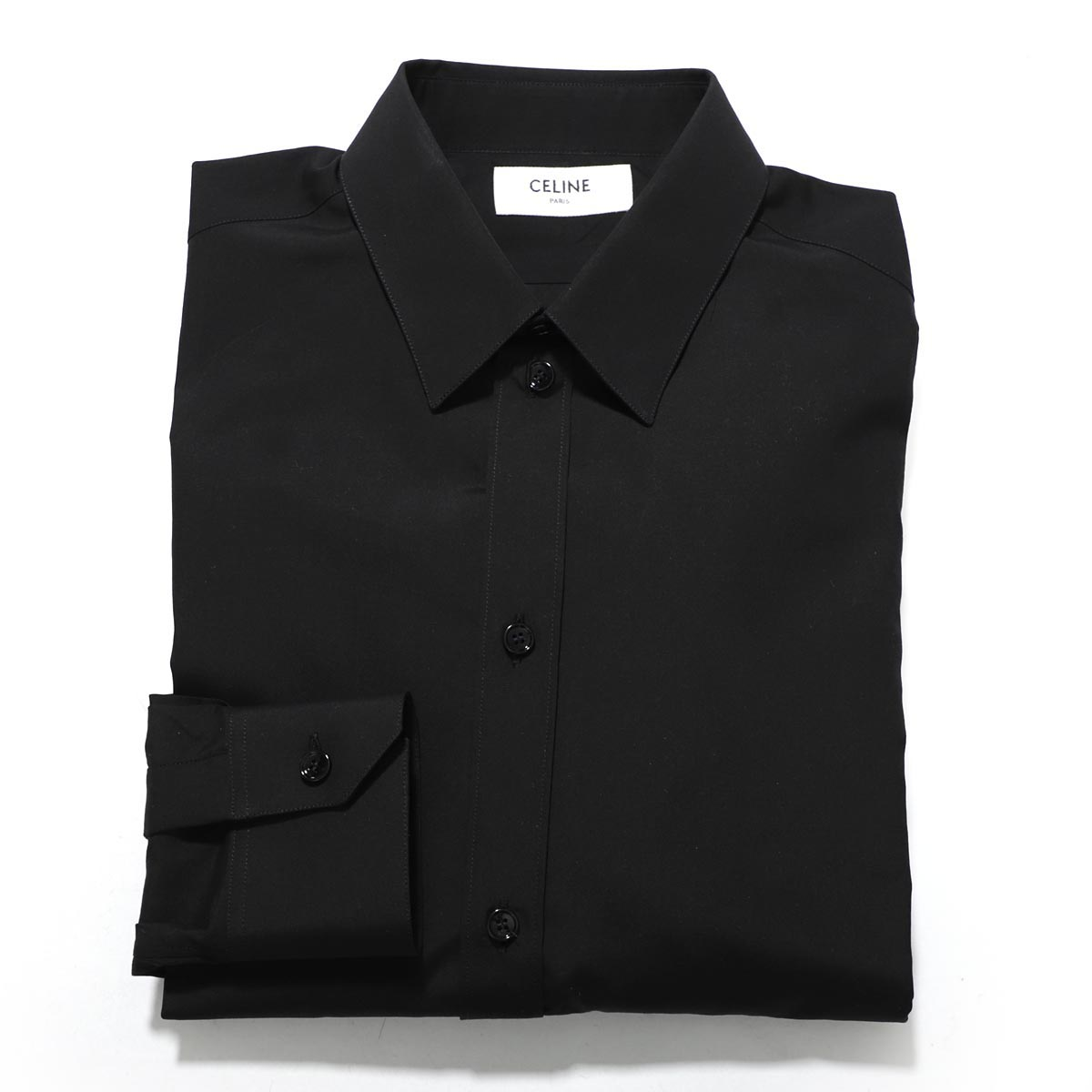 【アウトレット】セリーヌ CELINE モダンカラー シャツ ブラック メンズ カジュアル 普段着 インナー お出かけ 2c154 808e 38no CLASSIC SHIRT【あす楽対応_関東】【返品送料無料】【ラッピング無料】