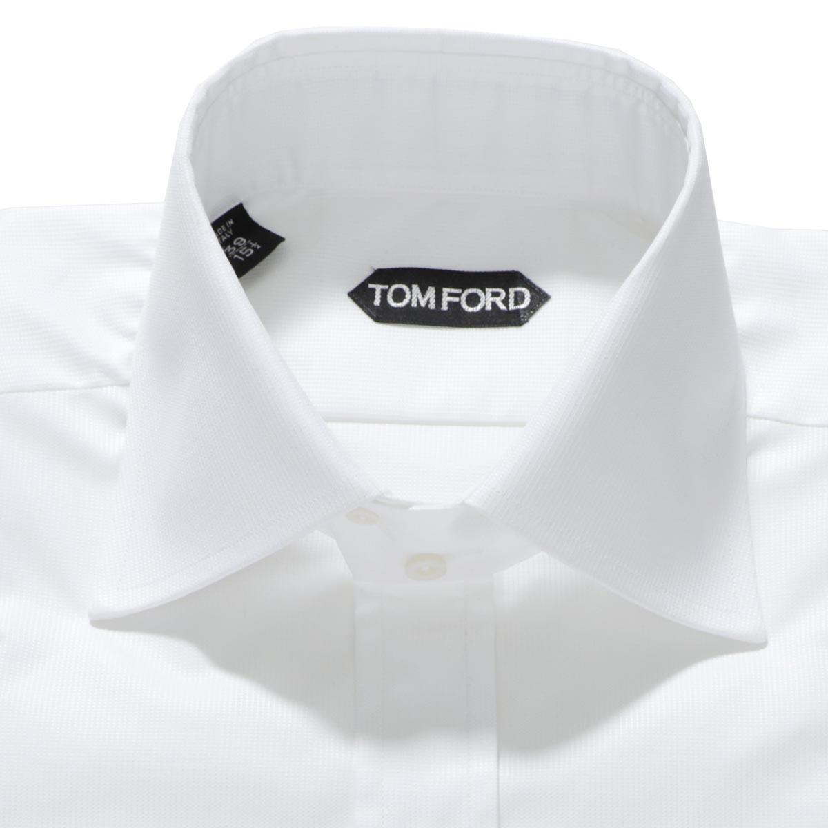 【アウトレット】トムフォード TOM FORD ホリゾンタルカラー シャツ ホワイト メンズ フォーマル インナー 大きいサイズあり 94c1ig 4ft051 g SHIRT TOM FORD【あす楽対応_関東】【返品送料無料】【ラッピング無料】