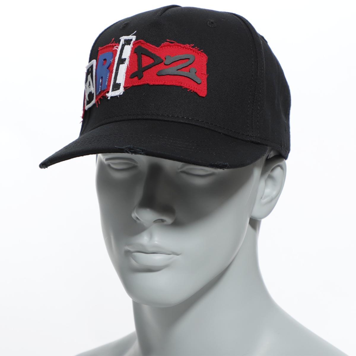 ディースクエアード DSQUARED2 ベースボールキャップ ブラック メンズ 帽子 スポーツ 野球 カジュアル bcm0172 05c00001 2124 PATCH CARGO BASEBALL CAPS【返品送料無料】【ラッピング無料】