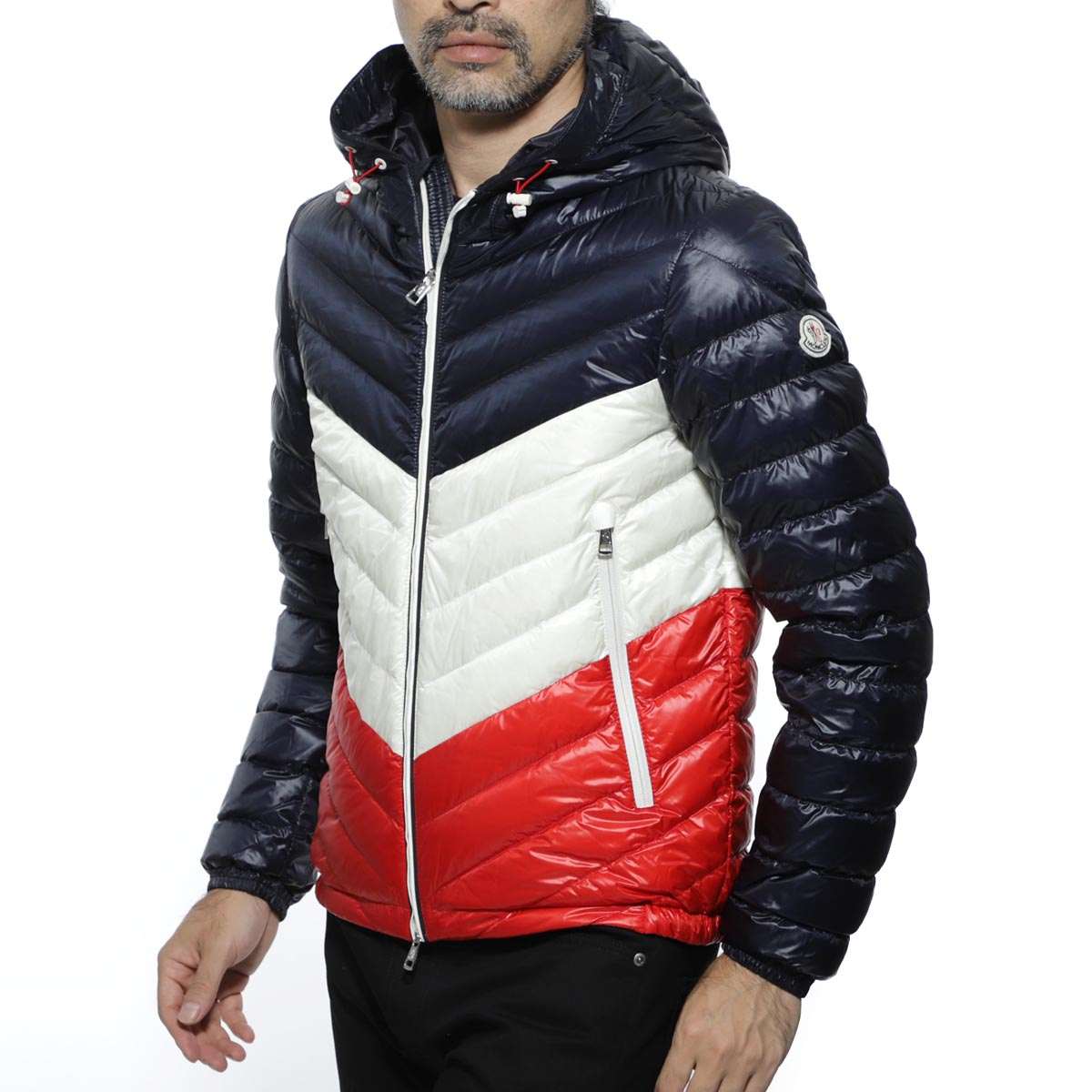 Monk rail MONCLER hooded down jacket multicolored men down outer goose down palliser 4030185 53029 776 PALLISER[outnew]