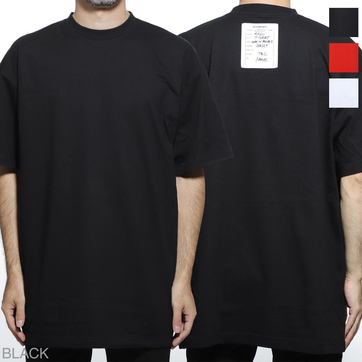 ヴェトモン VETEMENTS クルーネック 半袖Tシャツ メンズ uah20tr636 black ATELIER PATCH T-SHIRT【あす楽対応_関東】【返品送料無料】【ラッピング無料】