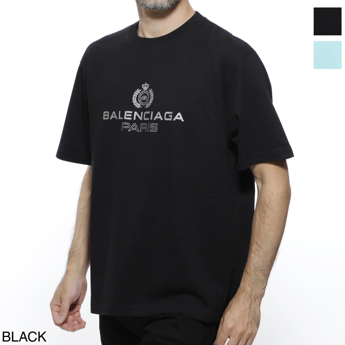 バレンシアガ BALENCIAGA クルーネック Tシャツ メンズ カジュアル トップス インナー 594579 tgv60 1000 BB PARIS REGULAR T-SHIRT 【あす楽対応_関東】【返品送料無料】【ラッピング無料】