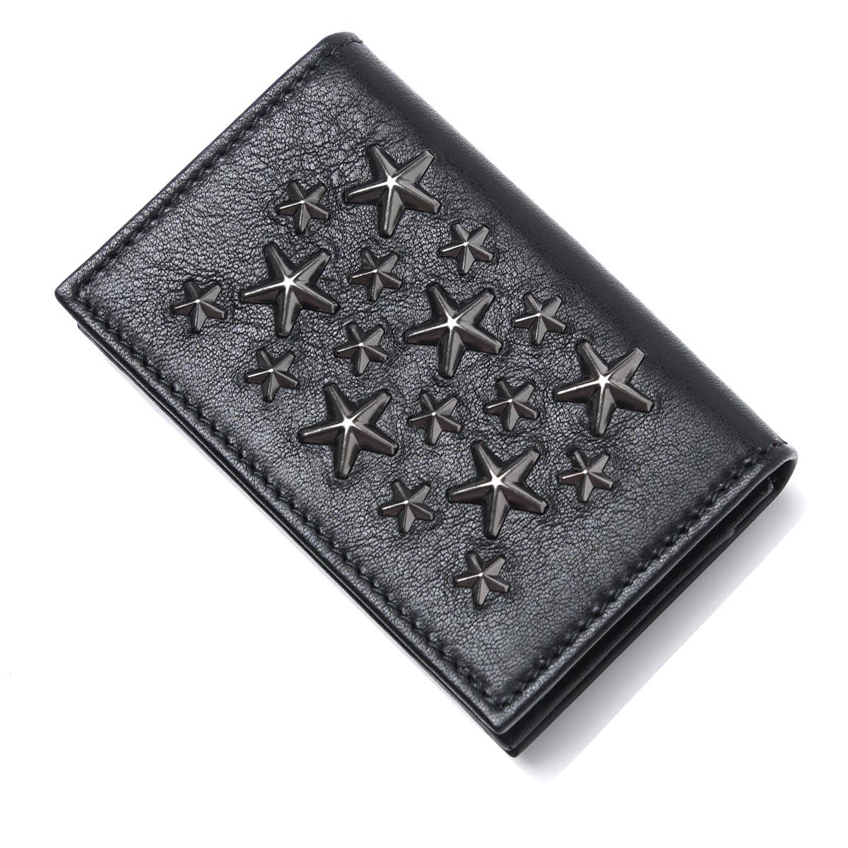 ジミーチュウ JIMMY CHOO カードケース 名刺入れ ブラック メンズ ギフト プレゼント belsize bls black gunmetal BELSIZE LEATHER【あす楽対応_関東】【返品送料無料】【ラッピング無料】