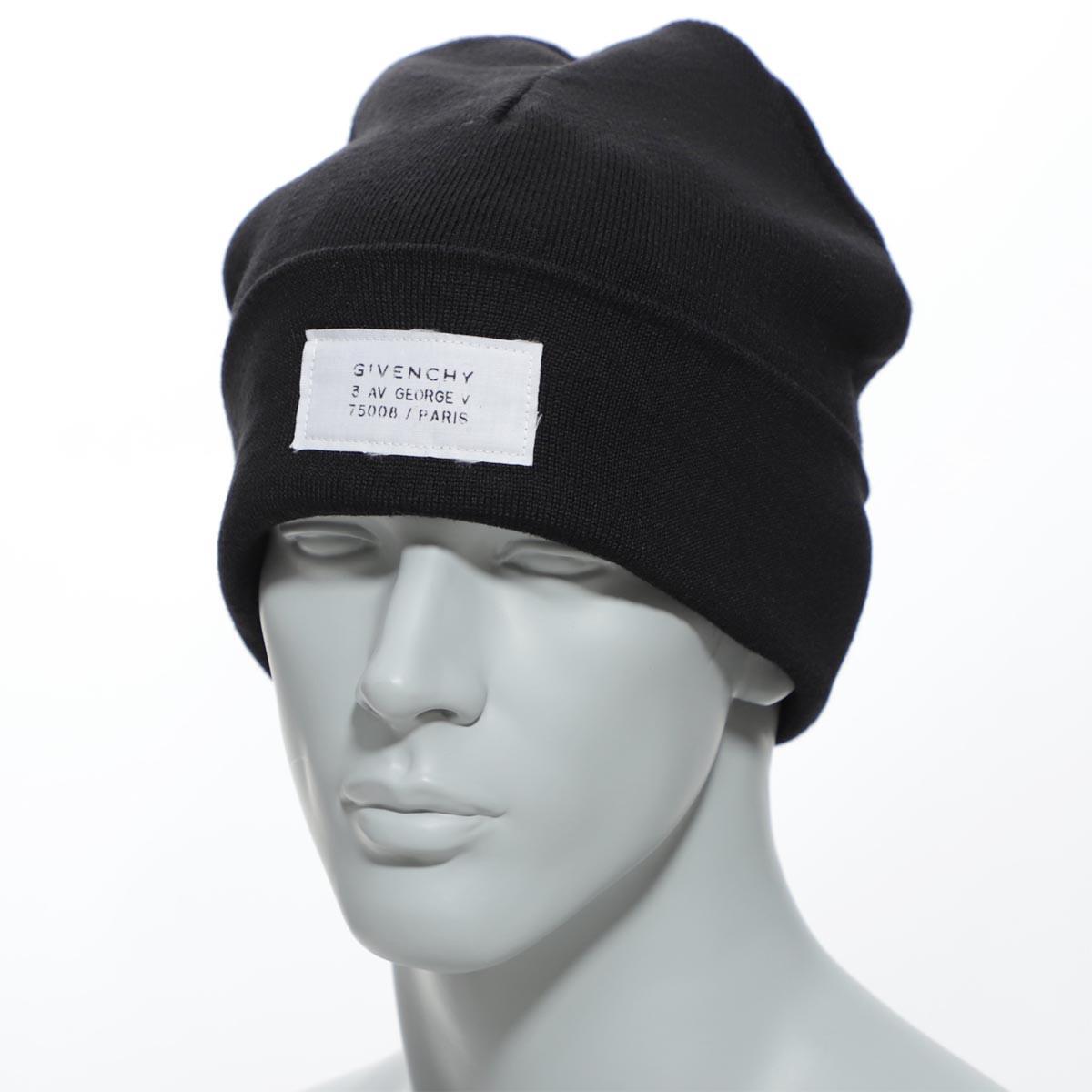 【アウトレット】ジバンシー GIVENCHY ニットキャップ ブラック メンズ ギフト プレゼント ニット 帽子 gvcapp u1598 1【あす楽対応_関東】【返品送料無料】【ラッピング無料】[outnew]