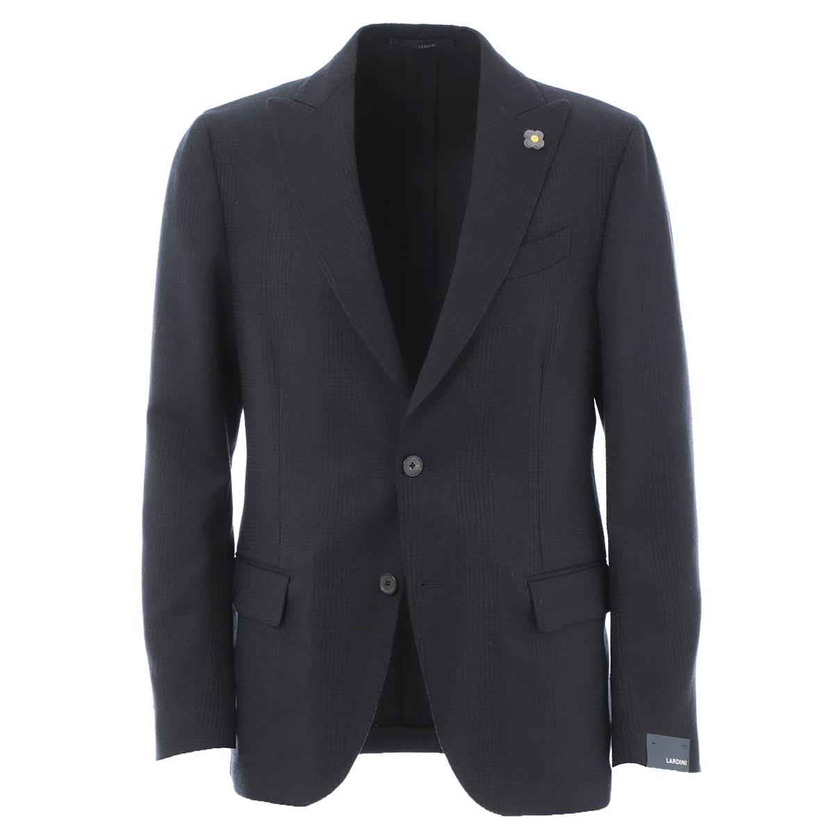 【アウトレット】ラルディーニ LARDINI 2つボタン シングルジャケット ブルー メンズ テーラード ジャケット カジュアル il953ae ila53433 1 EASY【_関東】【返品送料無料】【ラッピング無料】