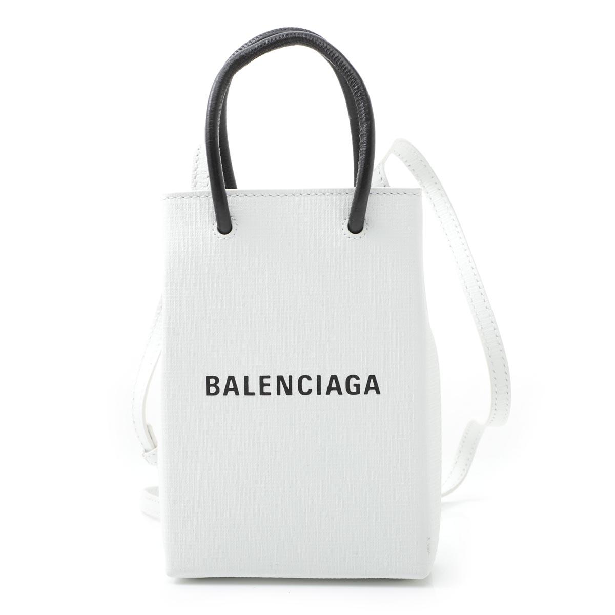 <title>送料無料 バレンシアガ メーカー公式ショップ BALENCIAGA フォンホルダー SHOPPING ショッピング ホワイト レディース 593826 0ai2n 9000 あす楽対応_関東 返品送料無料 ラッピング無料</title>
