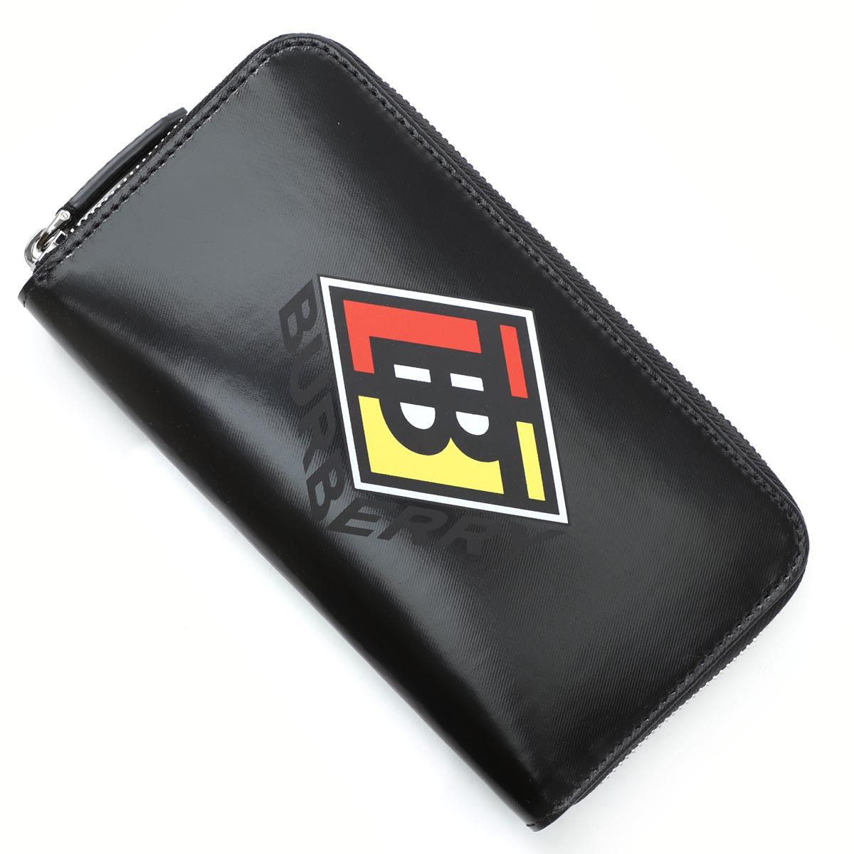 【アウトレット】バーバリー BURBERRY ラウンドファスナー 長財布 小銭入れ付き ブラック メンズ ギフト プレゼント 8021770 black【あす楽対応_関東】【返品送料無料】【ラッピング無料】[outnew]