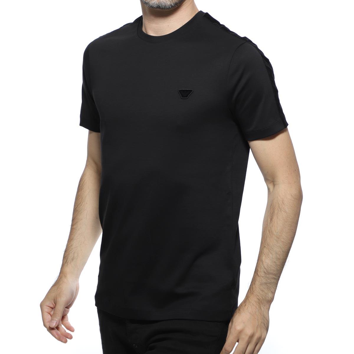 【アウトレット】エンポリオアルマーニ EMPORIO ARMANI クルーネックTシャツ ブラック メンズ カジュアル トップス 6g1te4 1jprz 0999【あす楽対応_関東】【返品送料無料】【ラッピング無料】