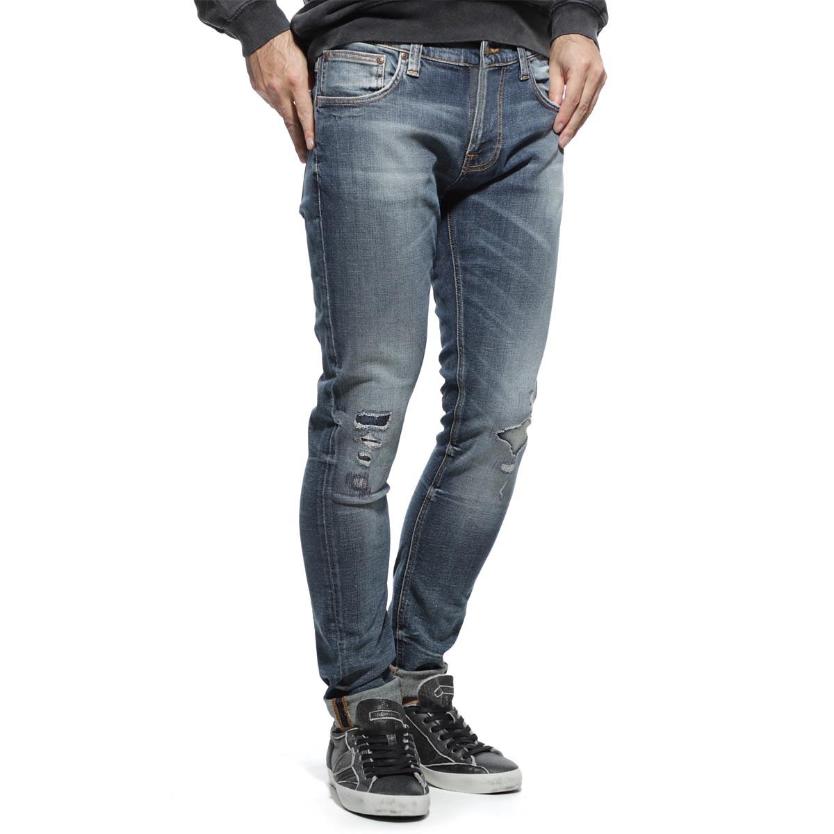 【アウトレット】ヌーディージーンズ nudie jeans co ストレッチジーンズ ブルー メンズ デニム オーガニックコットン tight terry 113115 TIGHT TERRY タイトテリー レングス32【あす楽対応_関東】【返品送料無料】【ラッピング無料】