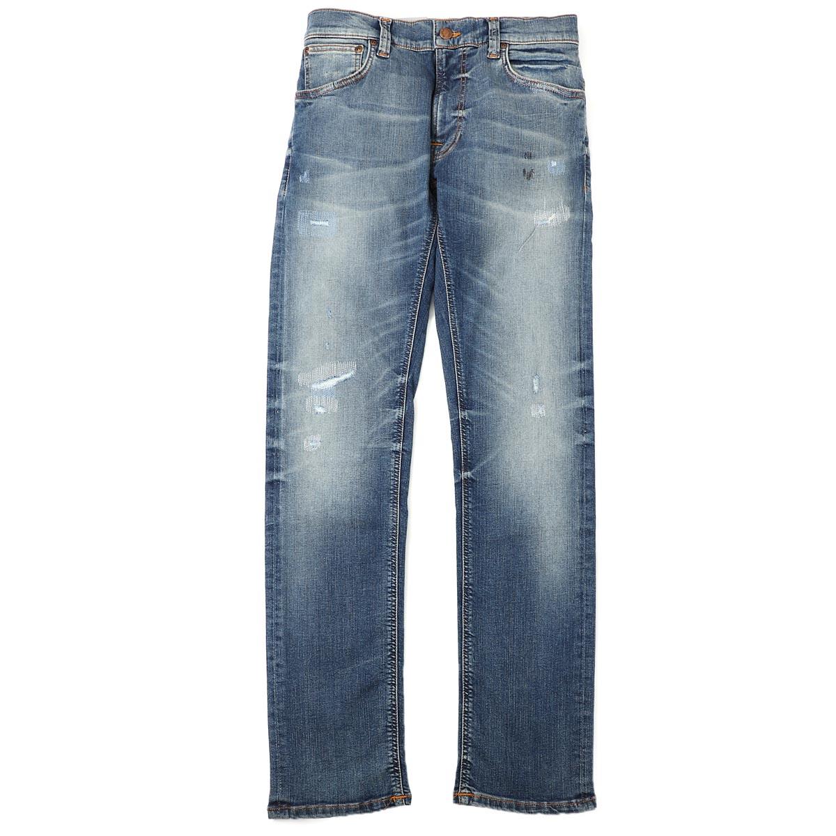 【アウトレット】【ラスト1点】ヌーディージーンズ nudie jeans co ストレッチジーンズ ブルー メンズ デニム オーガニックコットン thin finn 113127 THIN FINN レングス32【あす楽対応_関東】【返品送料無料】【ラッピング無料】