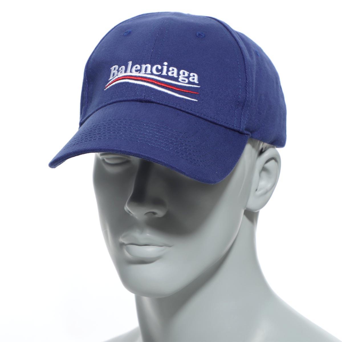 バレンシアガ BALENCIAGA ベースボールキャップ ブルー メンズ 帽子 スポーツ 野球 カジュアル 561018 410b2 4277 HAT POLITICAL BASEBALL CAP【あす楽対応_関東】【返品送料無料】【ラッピング無料】