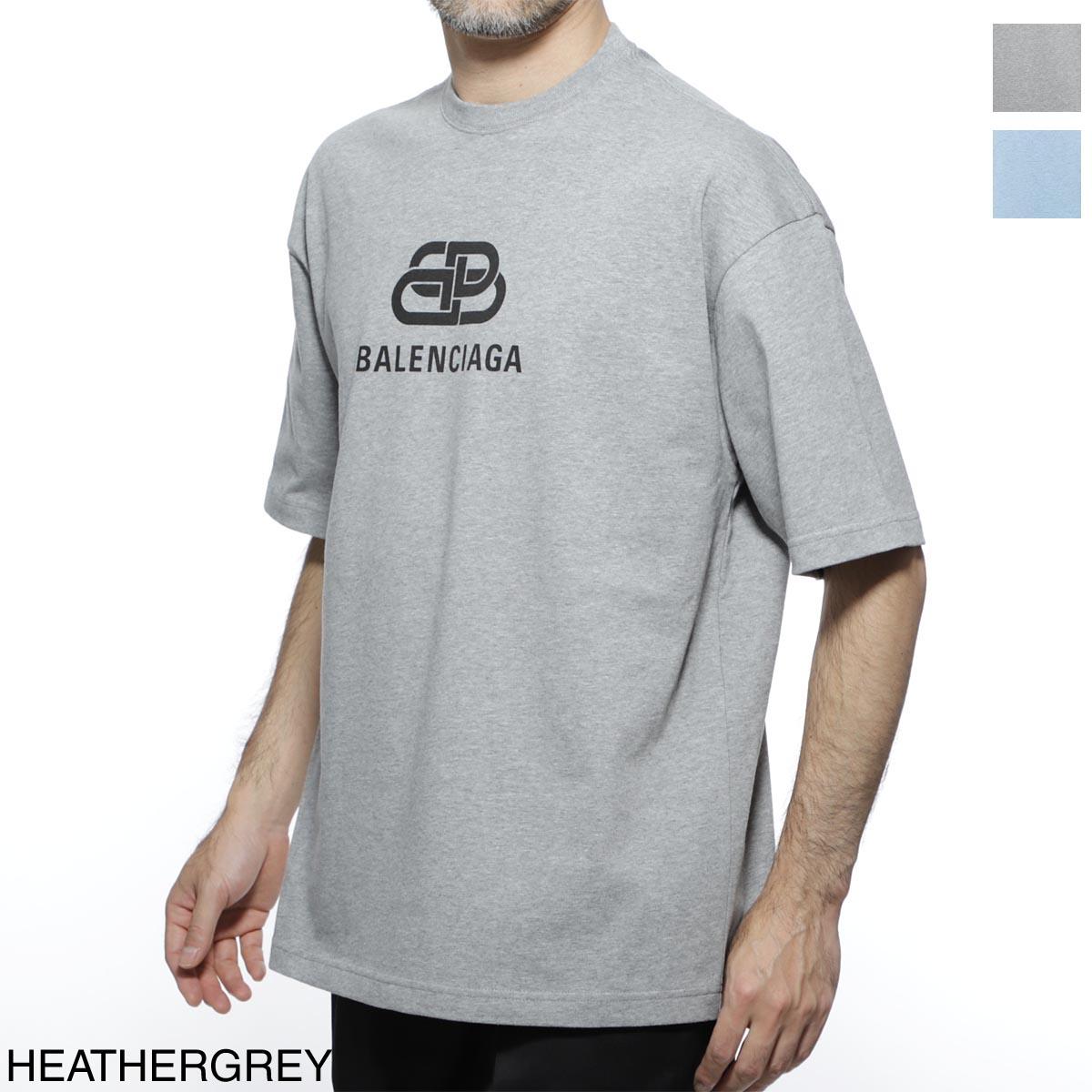 バレンシアガ BALENCIAGA クルーネック Tシャツ メンズ デザイン カットソー カジュアル 578139 tgv75 1300 BB LOGO T-SHIRT【あす楽対応_関東】【返品送料無料】【ラッピング無料】