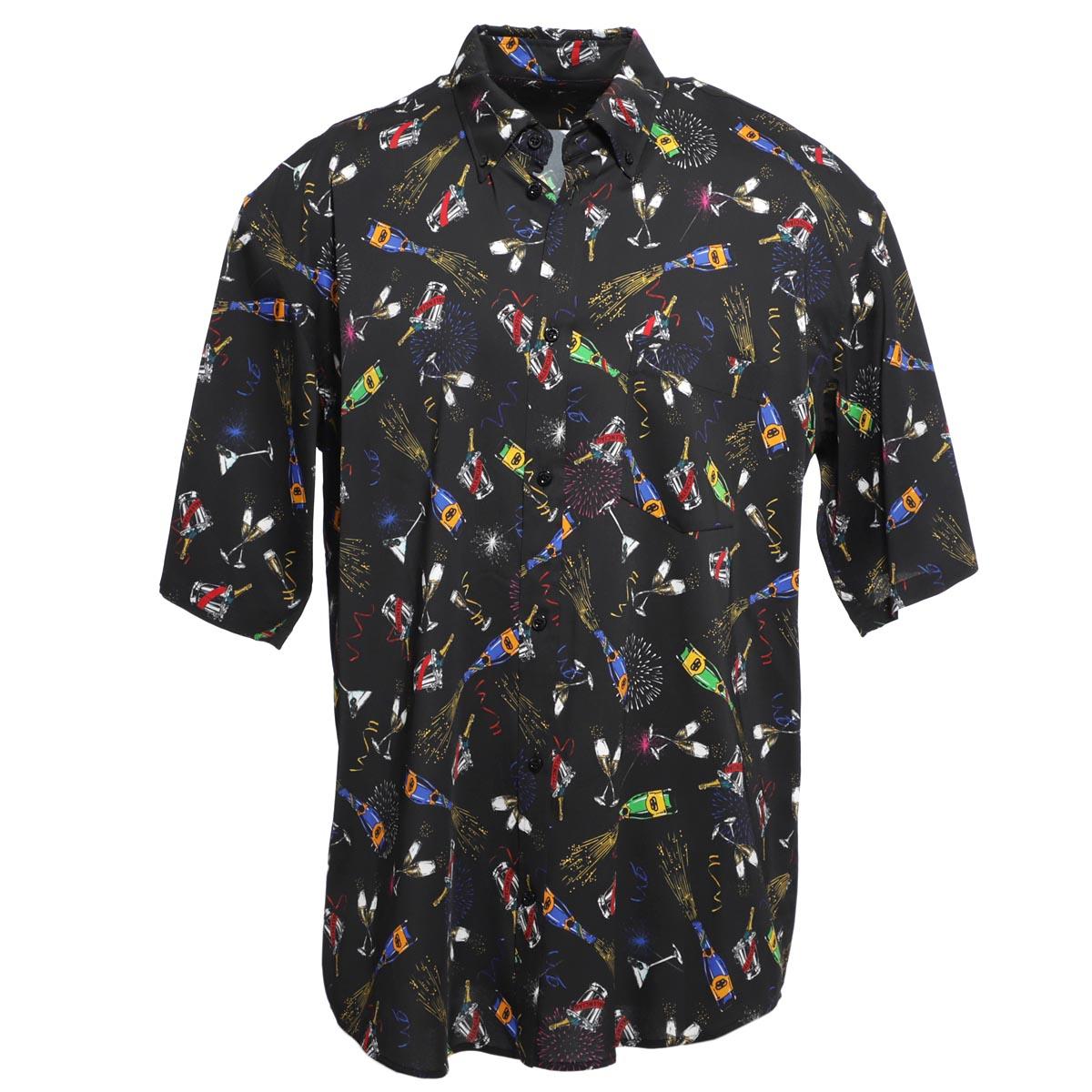 バレンシアガ BALENCIAGA ボタンダウンシャツ ブラック メンズ シャツ カジュアル 595250 tglf2 1000 GRAPHIC SHIRT【あす楽対応_関東】【返品送料無料】【ラッピング無料】