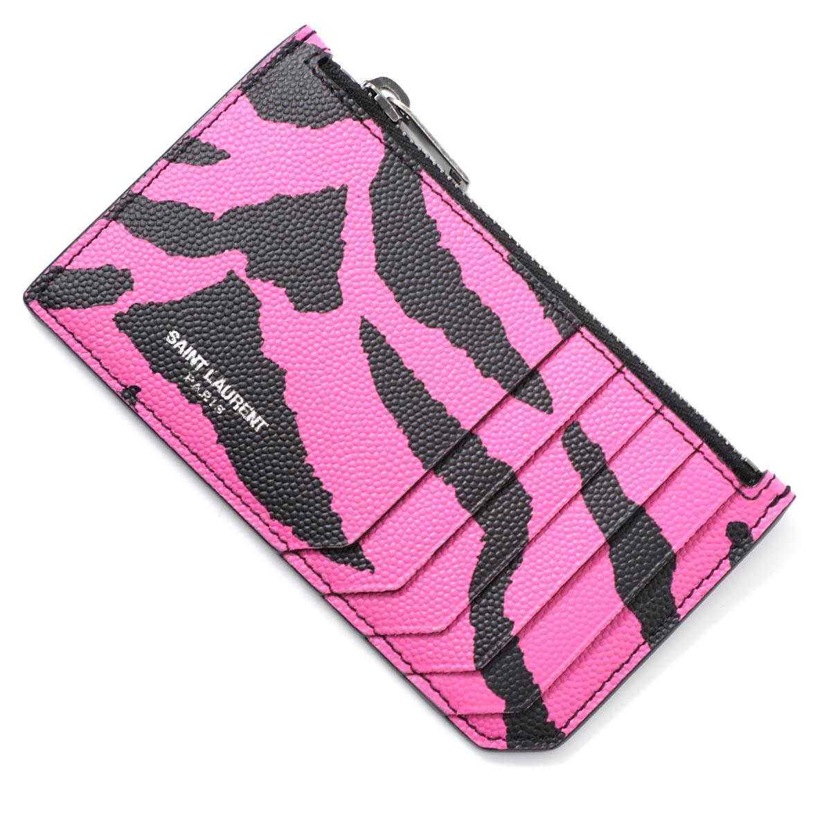 サンローランパリ SAINT LAURENT PARIS カードケース ピンク メンズ カード ギフト プレゼント 458589 1fh3d 5563 FRAGMENT フラグメント【あす楽対応_関東】【返品送料無料】【ラッピング無料】