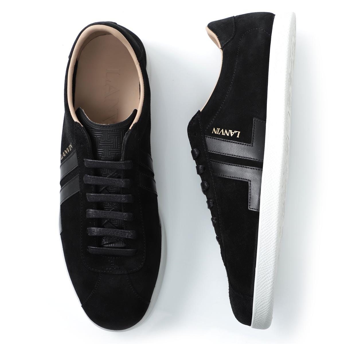 ランバン LANVIN スニーカー ブラック メンズ シューズ 靴 カジュアル 大きいサイズあり fm skdlon suna p20 10 SUEDE GLEN SNEAKERS【あす楽対応_関東】【返品送料無料】【ラッピング無料】