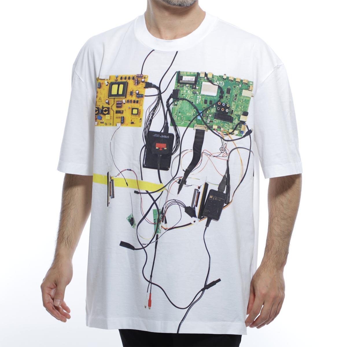 メゾンマルジェラ Maison Margiela クルーネックTシャツ ホワイト メンズ 半袖 s50gc0612 s22816 100 10 男性のためのコレクション【あす楽対応_関東】【返品送料無料】【ラッピング無料】