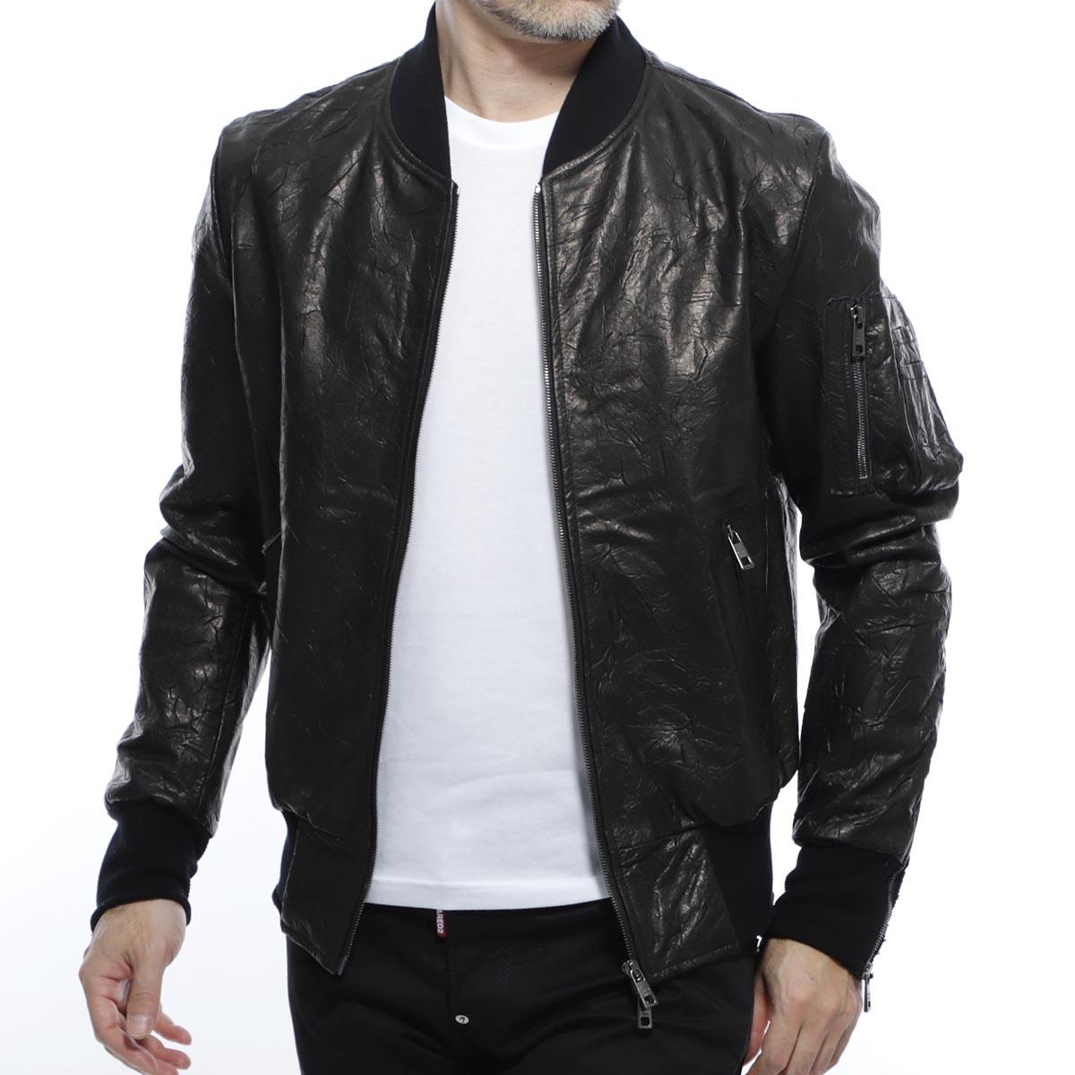 ジョルジオブラット GIORGIO BRATO レザーブルゾン レザージャケット ブラック メンズ アウター 大きいサイズあり gu20s 9499crum nero CRUM【あす楽対応_関東】【返品送料無料】【ラッピング無料】
