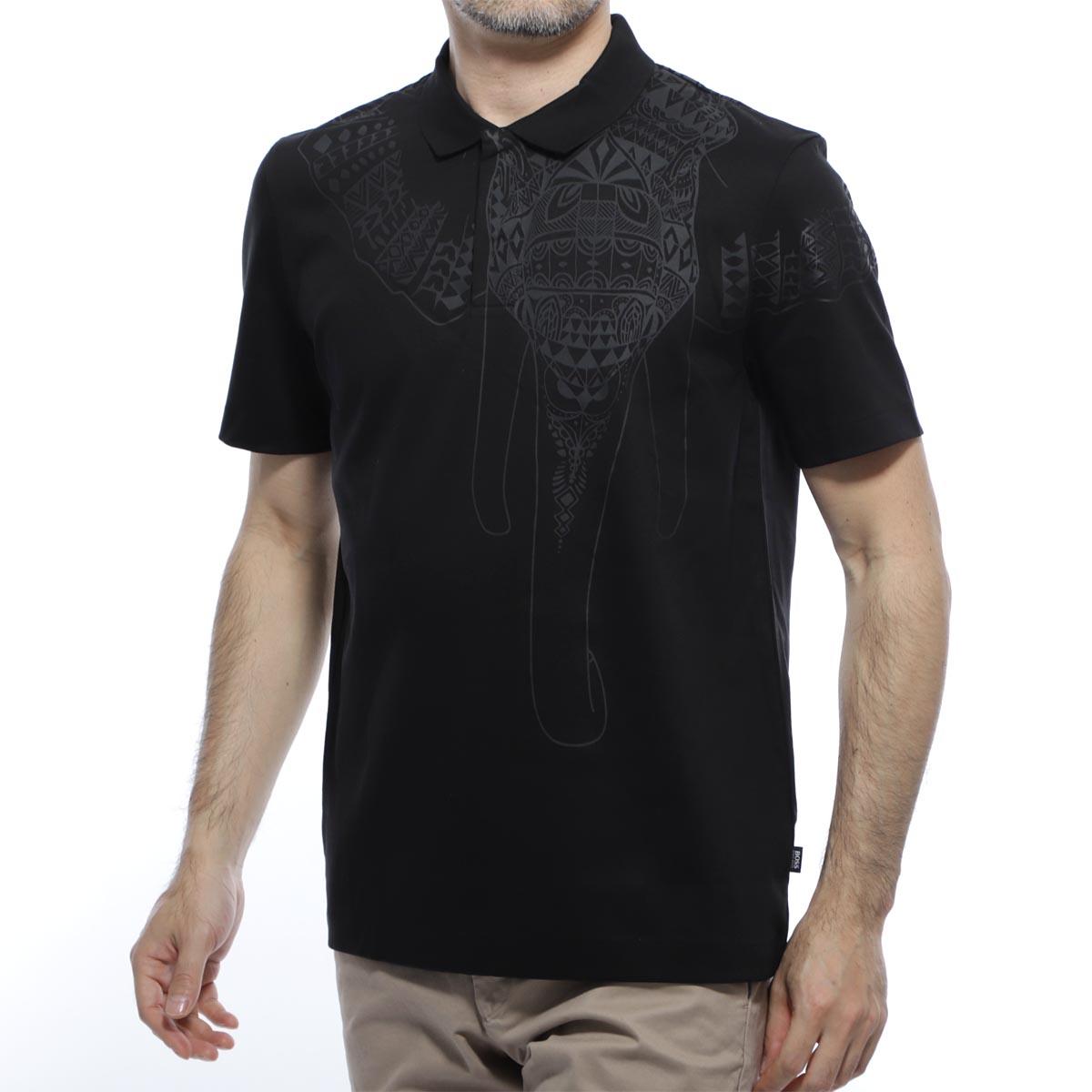 ボスヒューゴボス BOSS HUGOBOSS ポロシャツ ブラック メンズ 半袖 コラボ マイセン prout 50420610 001 BOSS×MEISSEN PROUT【あす楽対応_関東】【返品送料無料】【ラッピング無料】