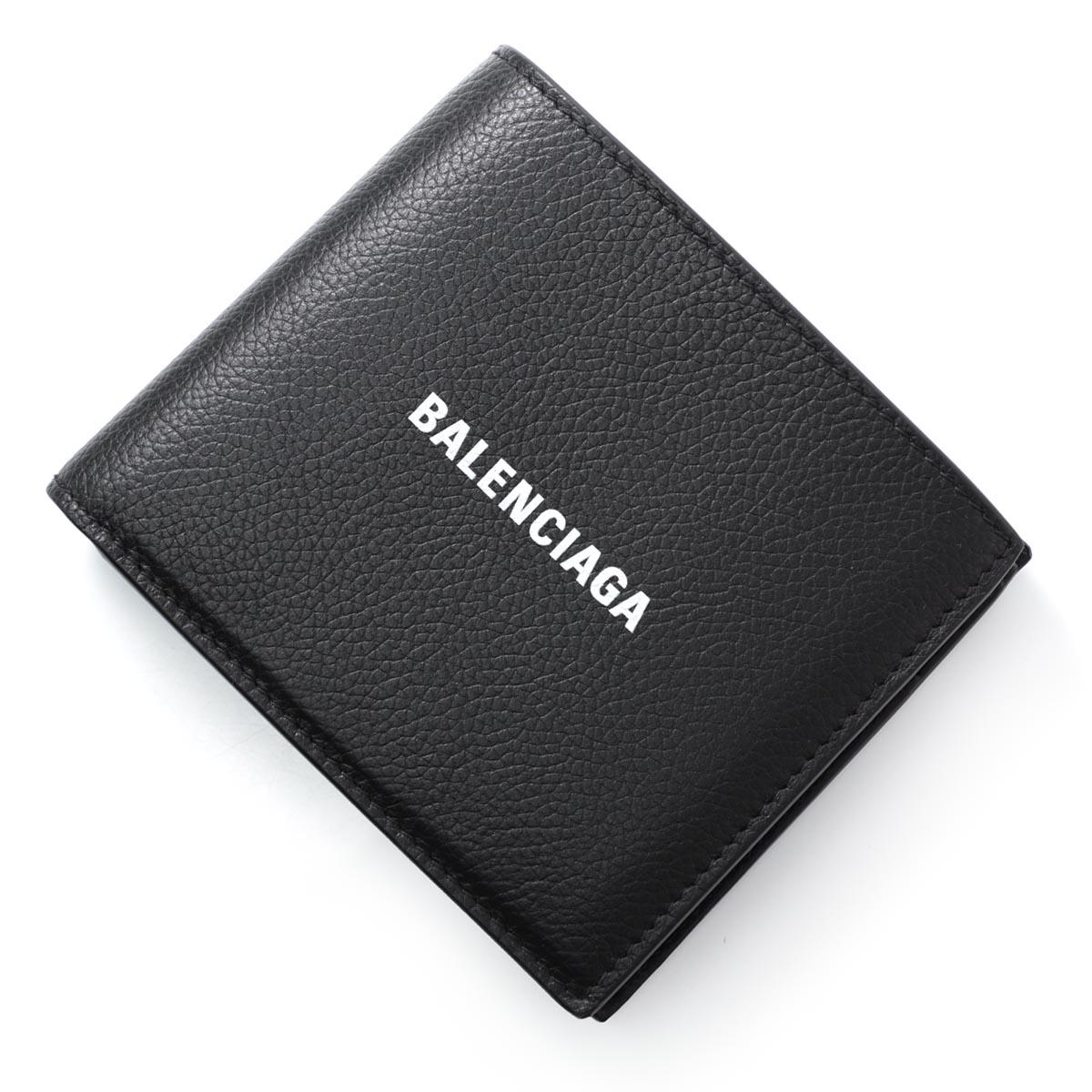 バレンシアガ BALENCIAGA 2つ折り財布 小銭入れ付き ブラック メンズ ギフト プレゼント 594315 1iz43 1090【あす楽対応_関東】【返品送料無料】【ラッピング無料】