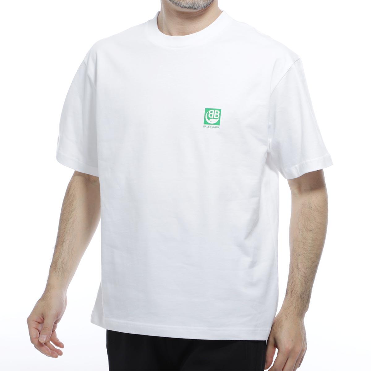 バレンシアガ BALENCIAGA クルーネックTシャツ ホワイト メンズ コットン 綿 594579 thv63 9000【あす楽対応_関東】【返品送料無料】【ラッピング無料】