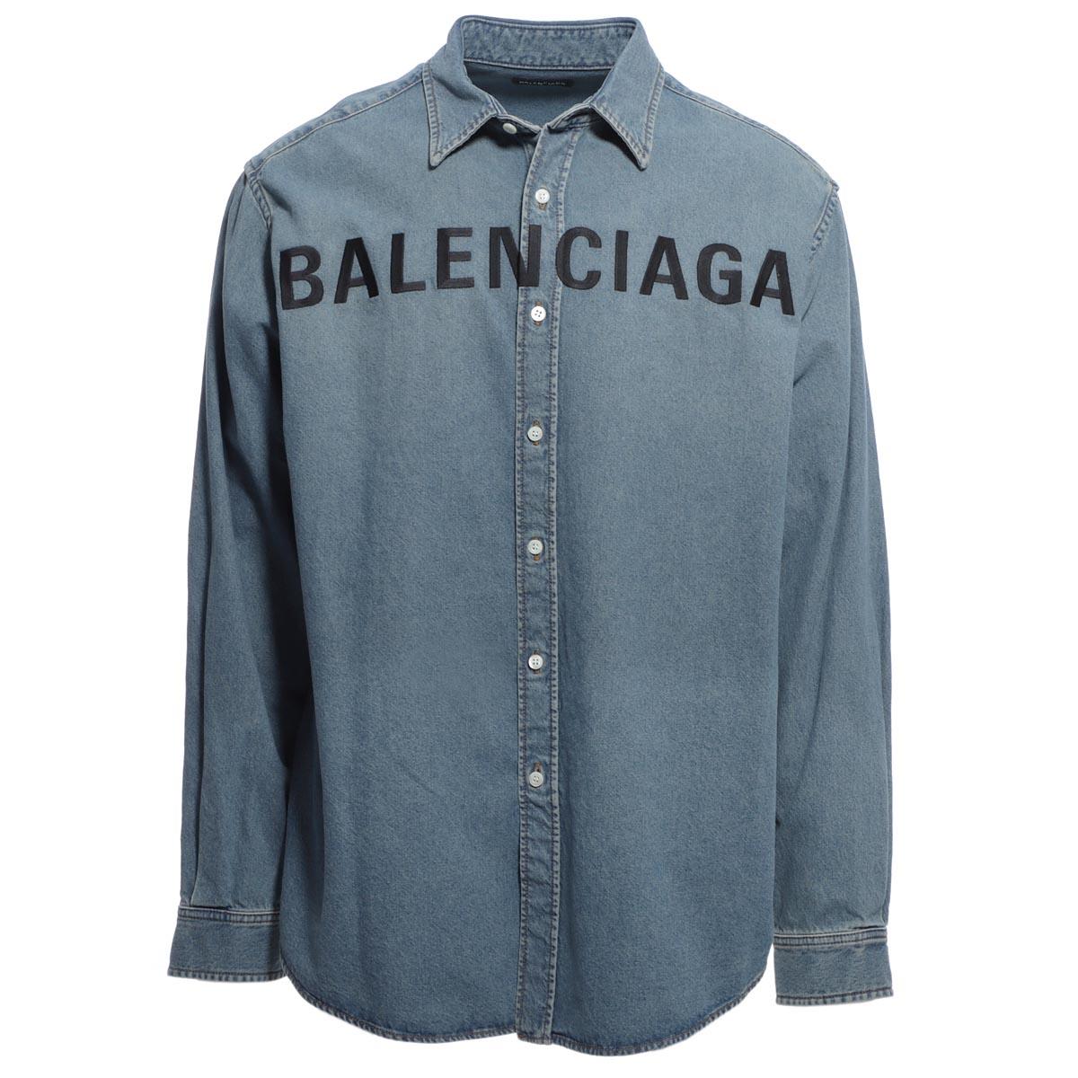 バレンシアガ BALENCIAGA デニムシャツ ブルー メンズ コットン 綿 長袖 600280 tye24 4065【あす楽対応_関東】【返品送料無料】【ラッピング無料】