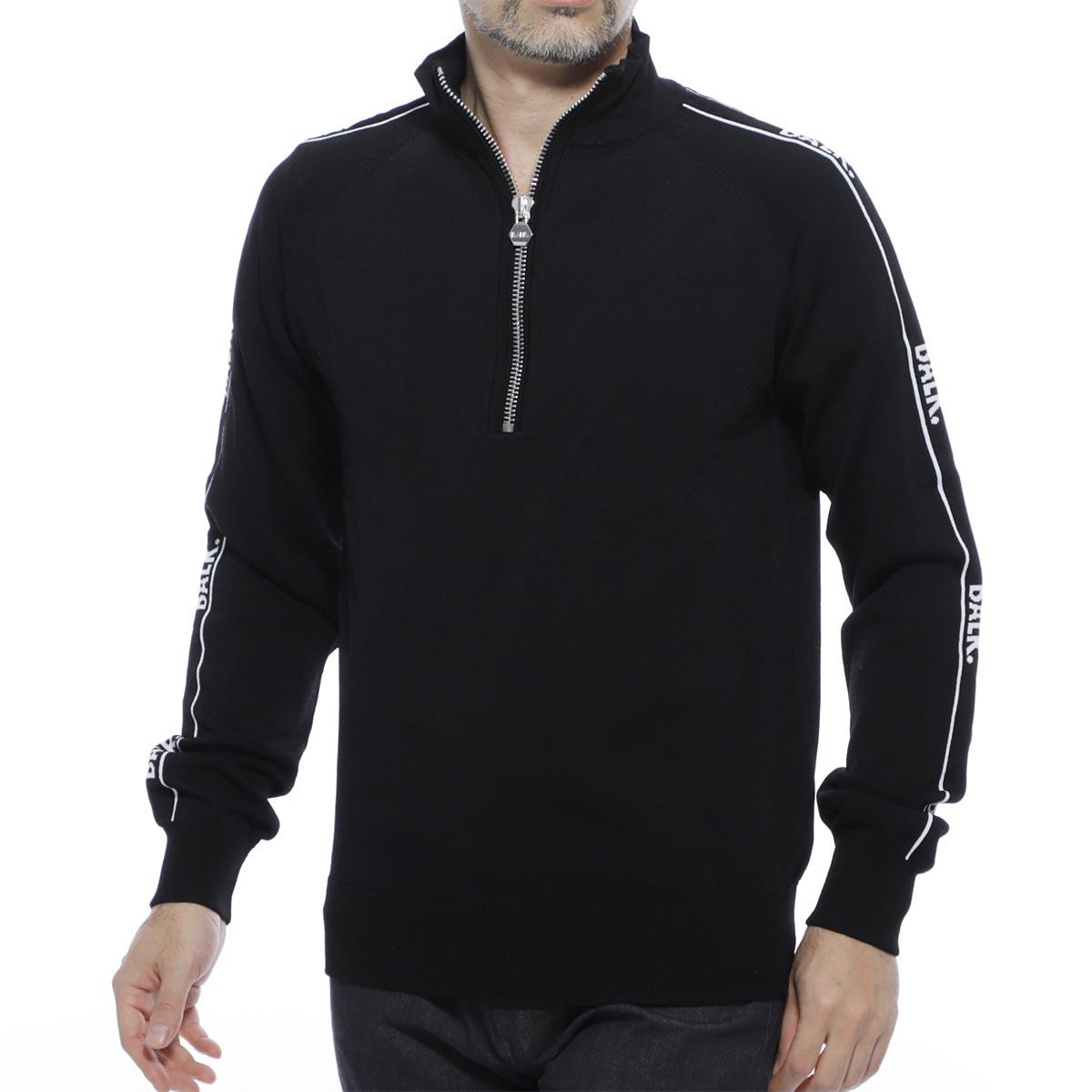 ボーラ― BALR. ハーフジップ 長袖ニット ブラック メンズ brand tape halfzip sweater black BRAND TAPE【あす楽対応_関東】【返品送料無料】【ラッピング無料】