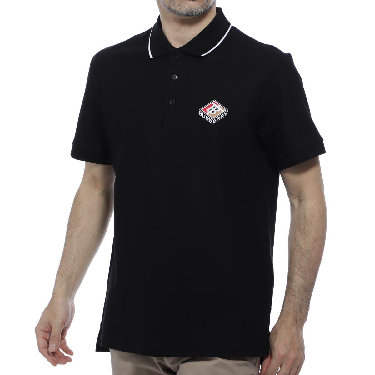【アウトレット】【ラスト1点】バーバリー BURBERRY ポロシャツ ブラック メンズ ゴルフ 8021833 black AIDEN【あす楽対応_関東】【返品送料無料】【ラッピング無料】[outnew]