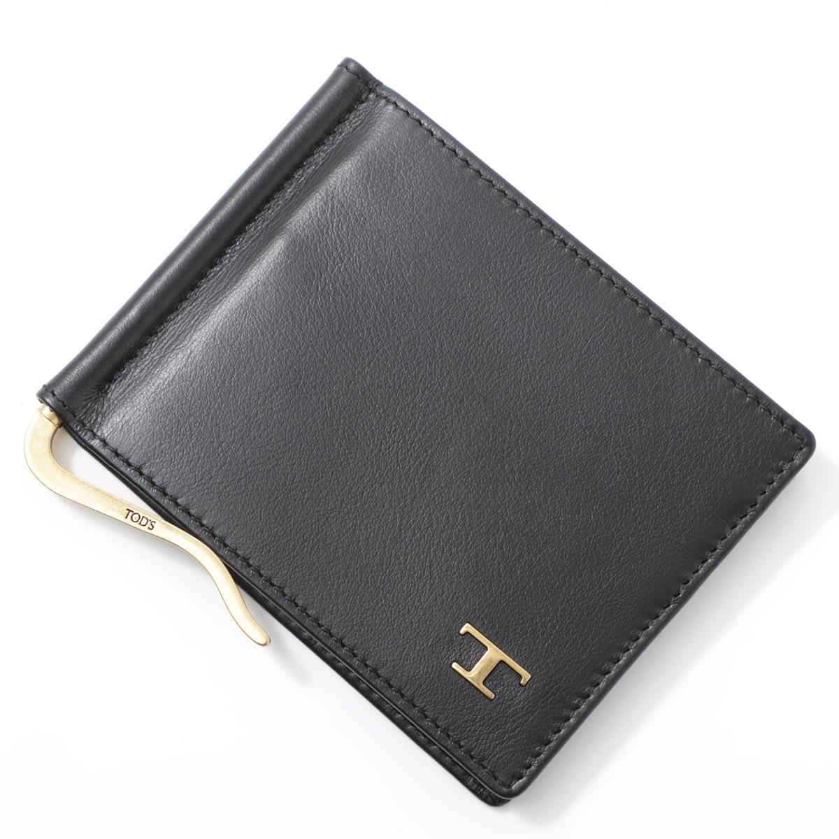 トッズ TODS マネークリップ カードケース ブラック メンズ 財布 レザー 小物 xamtsic2300myi b999【_関東】【返品送料無料】【ラッピング無料】
