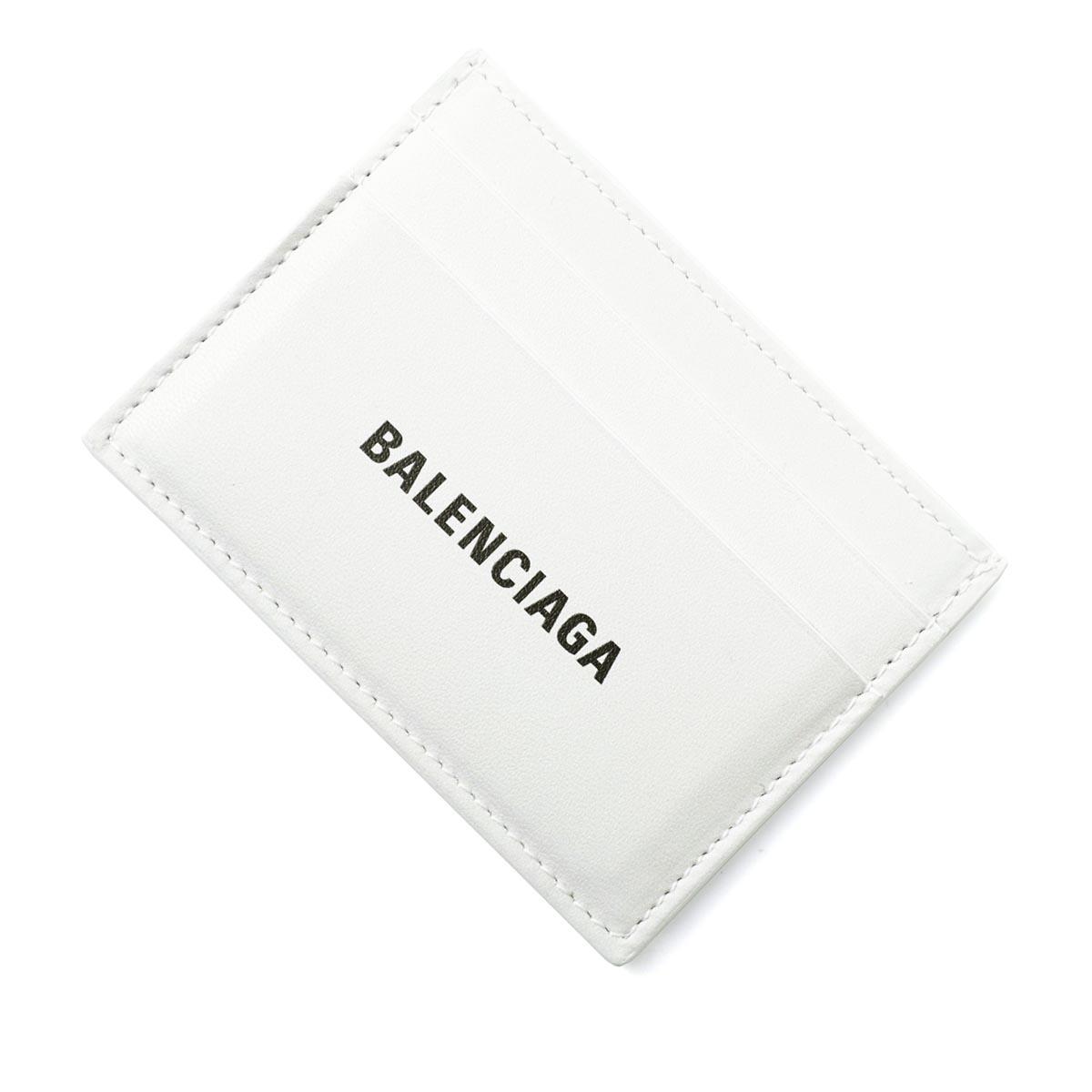 バレンシアガ BALENCIAGA カードケース 財布 ホワイト メンズ ウオレット 594309 1i313 9060 LOGO PRINTED CARDHOLDER【あす楽対応_関東】【返品送料無料】【ラッピング無料】