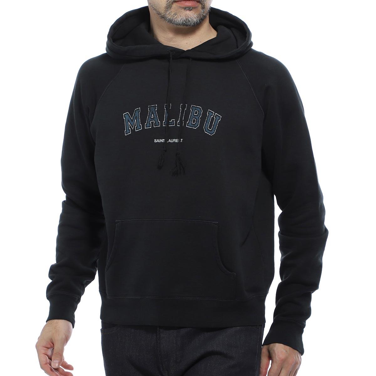サンローランパリ SAINT LAURENT PARIS パーカ フーディ ブラック メンズ 603281 ybpy2 1050 Saint laurent malibu print sweatshirt【あす楽対応_関東】【返品送料無料】【ラッピング無料】