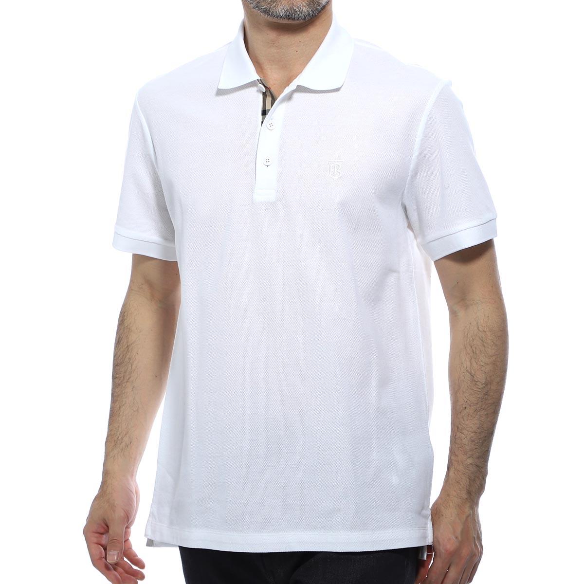 バーバリー BURBERRY ポロシャツ ホワイト メンズ 8014005 white EDDIE エディ【あす楽対応_関東】【返品送料無料】【ラッピング無料】
