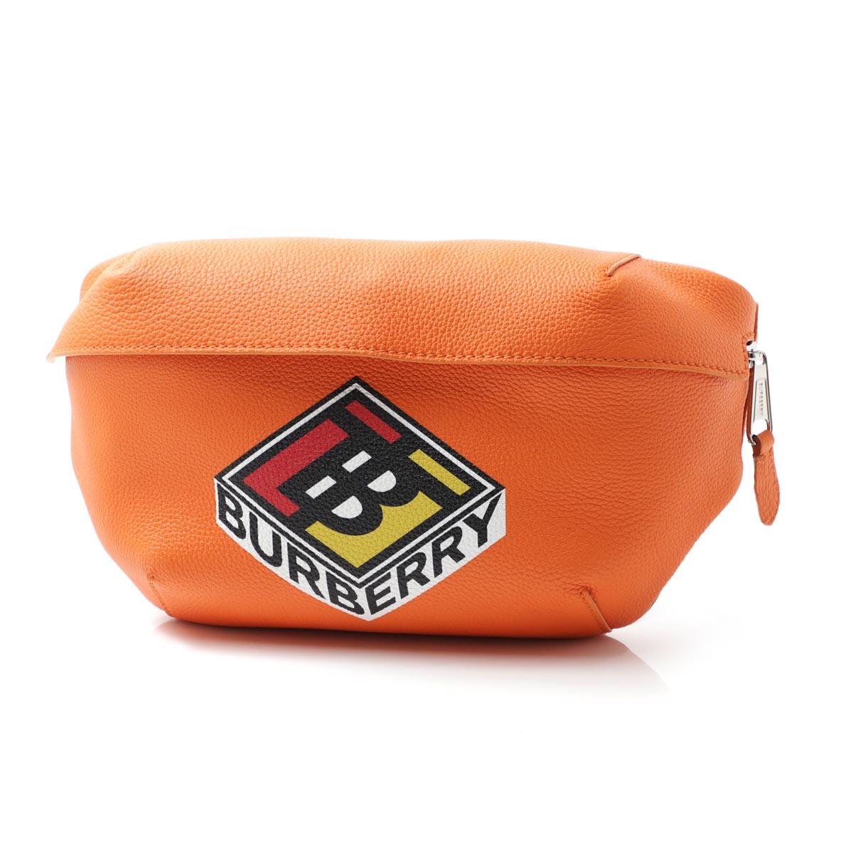 バーバリー BURBERRY ボディバッグ ウエストポーチ オレンジ メンズ 8022535 brightorange LOGO GRAPHIC GRAINY LEATHER SONNY BUMBAG【あす楽対応_関東】【返品送料無料】【ラッピング無料】