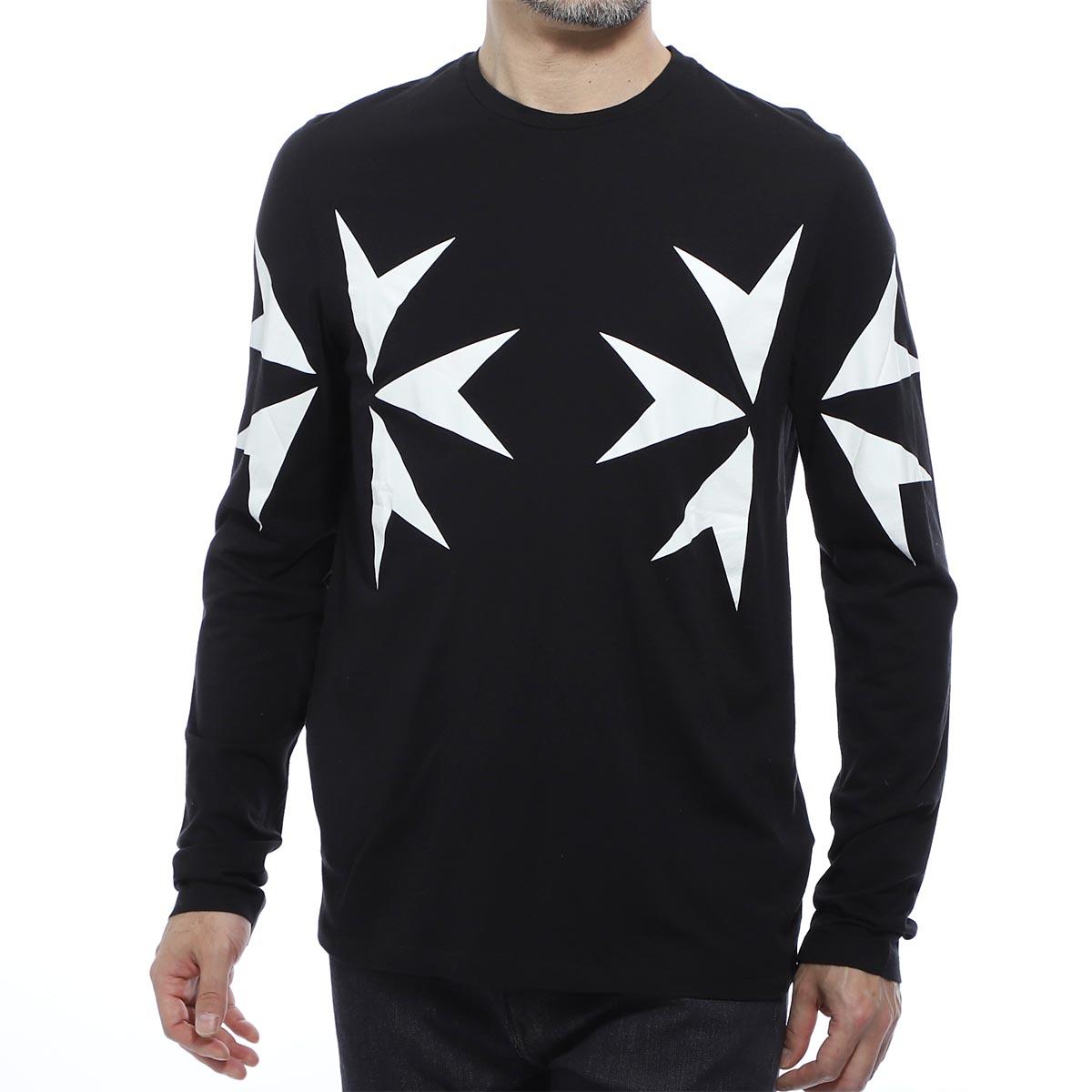 ニールバレット NeIL BarreTT クルーネックTシャツ ブラック メンズ pbjt568s m517s 524 FIT SLIM REGULAR【あす楽対応_関東】【返品送料無料】【ラッピング無料】