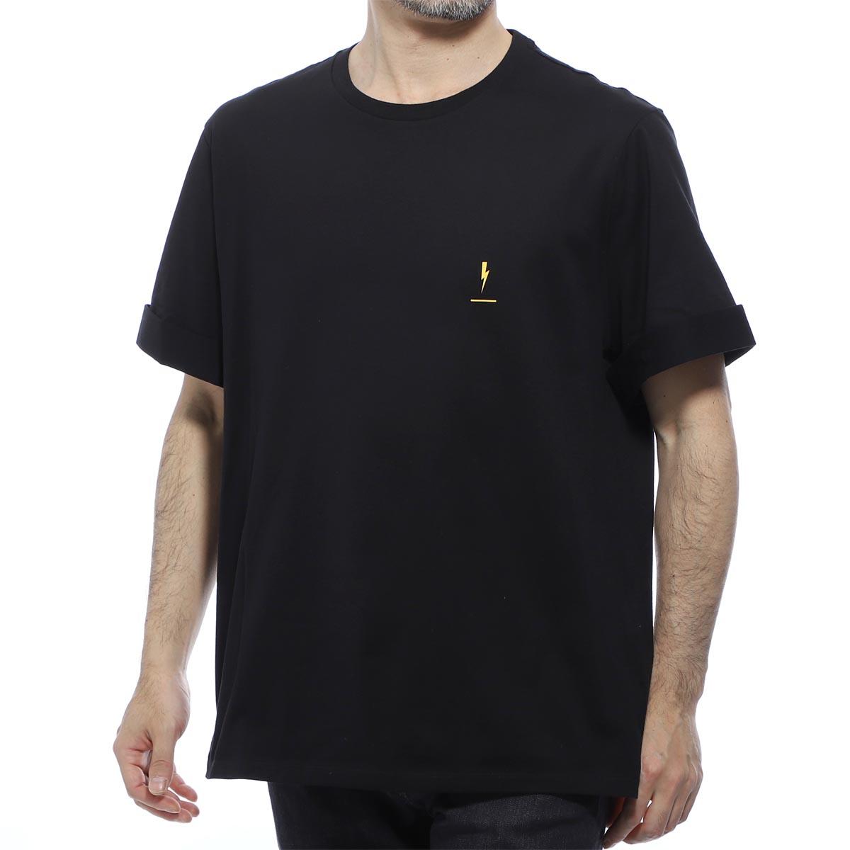 ニールバレット NeIL BarreTT クルーネックTシャツ イエロー メンズ pbjt577s m520s 1004 FIT LOOSE REGULAR【あす楽対応_関東】【返品送料無料】【ラッピング無料】