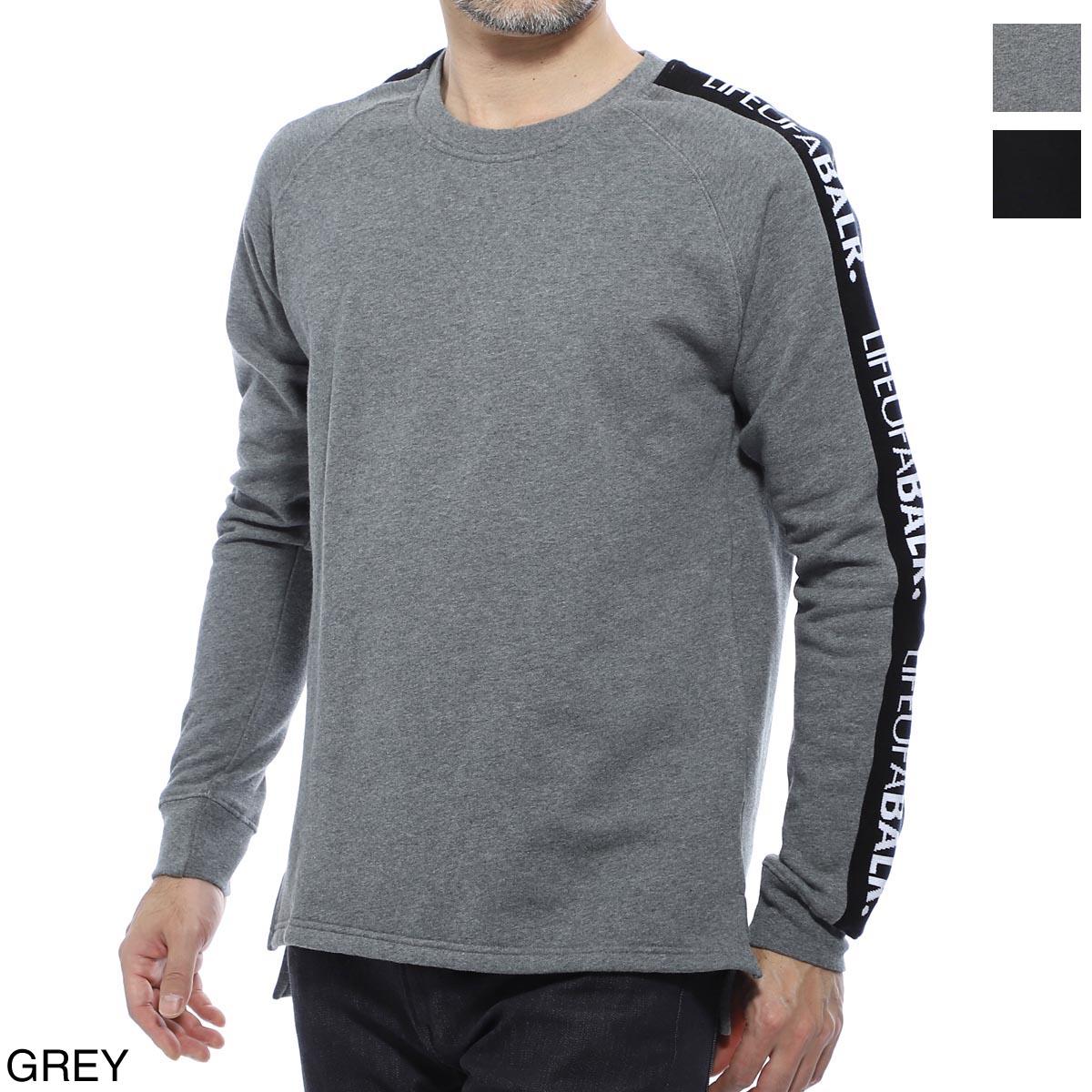 ボーラ― BALR. スウェット メンズ lifeofabalr tape crewneck sweater grey LIFEOFBALR TAPE CREWNECK SWEATER【あす楽対応_関東】【返品送料無料】【ラッピング無料】