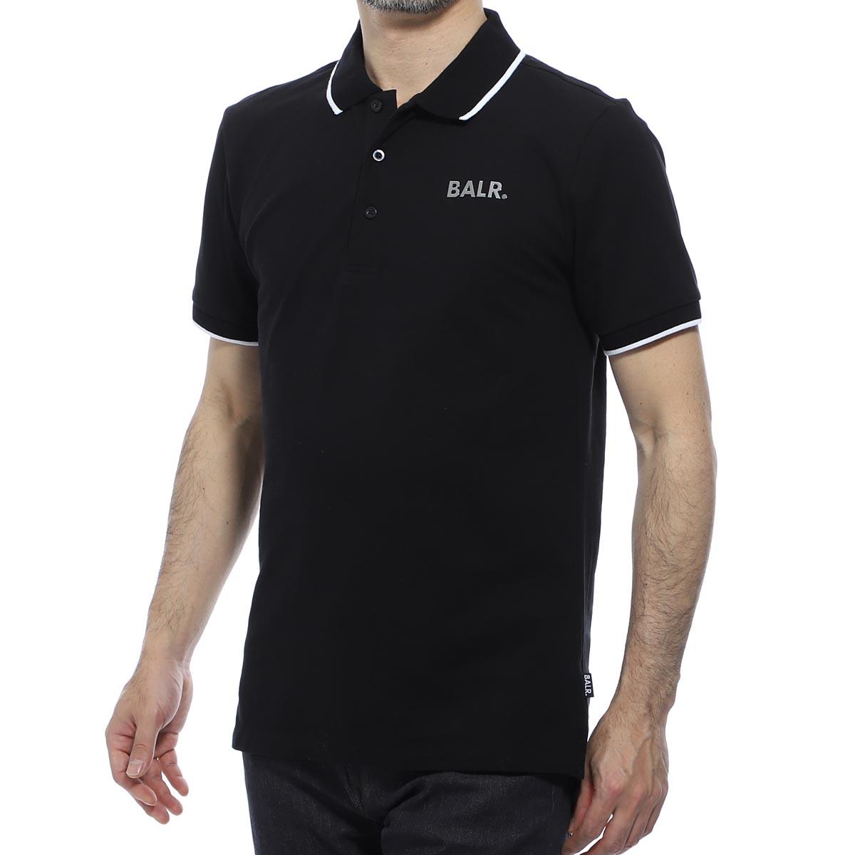 ボーラ― BALR. ポロシャツ ブラック メンズ brand metal logo polo shirt black POLO METAL PLATE【あす楽対応_関東】【返品送料無料】【ラッピング無料】