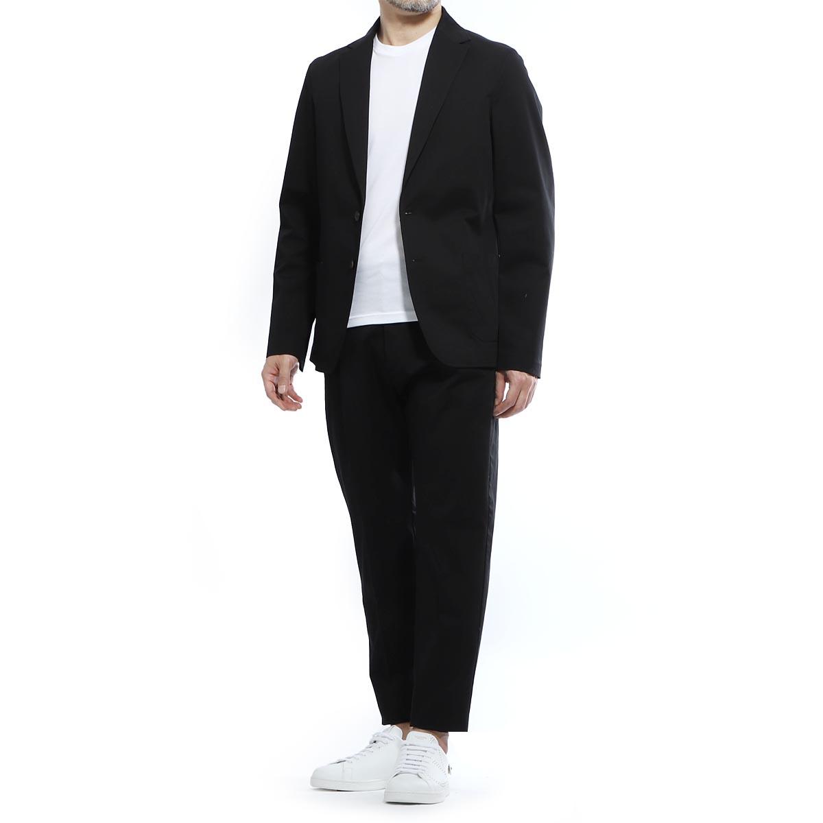ティージャケット T-JACKET シングル 2つボタンスーツ ブラック メンズ テーラード ジャケット パンツ カジュアル セットアップ 51ba419j 1268u 990 MAN FIT T-SUIT【あす楽対応_関東】【返品送料無料】