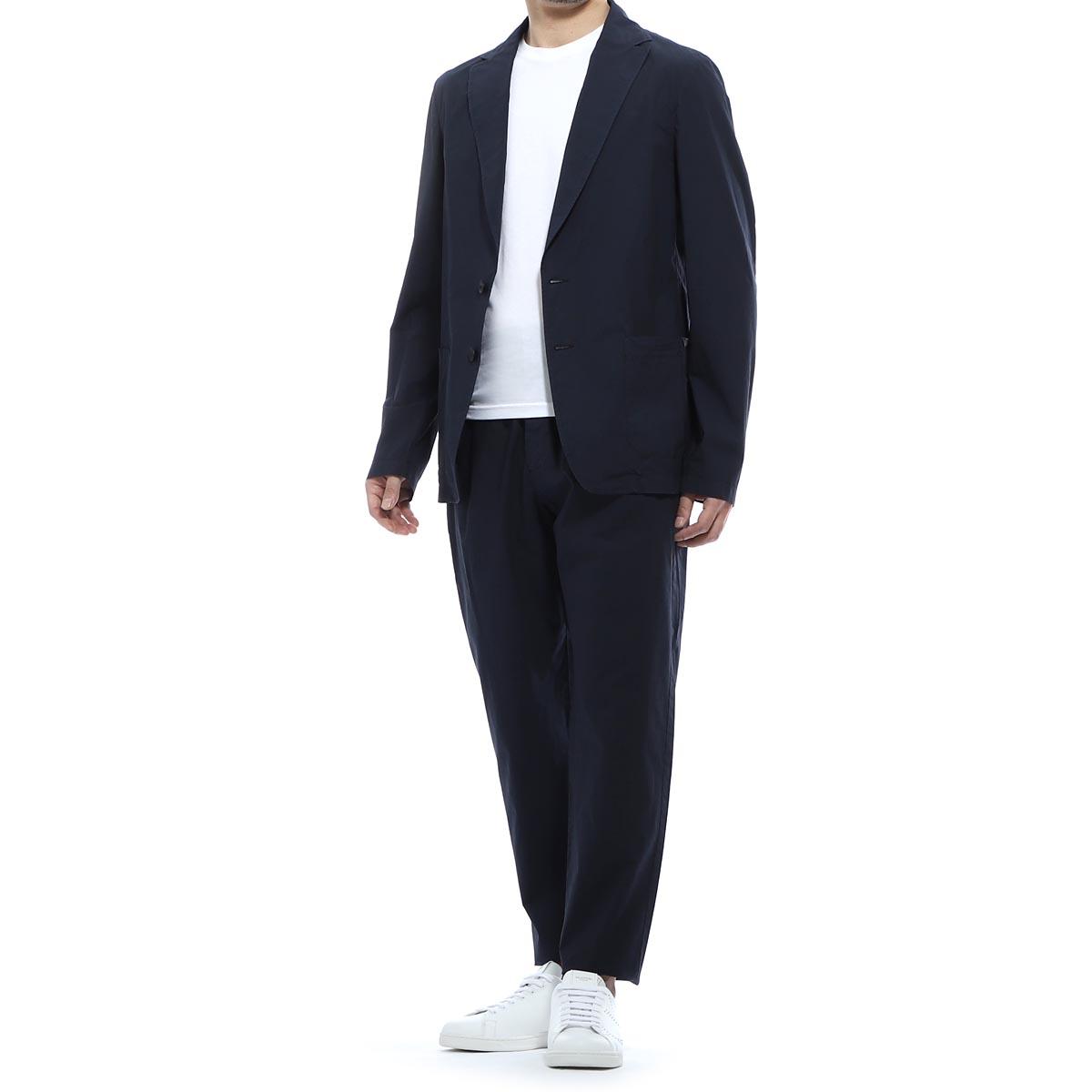 ティージャケット T-JACKET シングル 2つボタンスーツ ブルー メンズ テーラード ジャケット パンツ カジュアル セットアップ 51ba419t 4329t 601 MAN FIT T-SUIT【あす楽対応_関東】【返品送料無料】