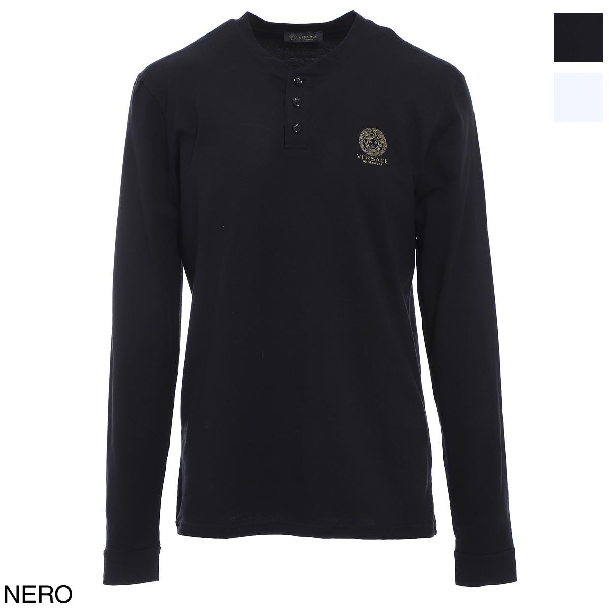 ヴェルサーチェ VERSACE クルーネック Tシャツ メンズ auu01016 a232741 a1008 T-SHIRT ML GIROCOLLO INTIMO UOMO【あす楽対応_関東】【返品交換不可】【ラッピング無料】