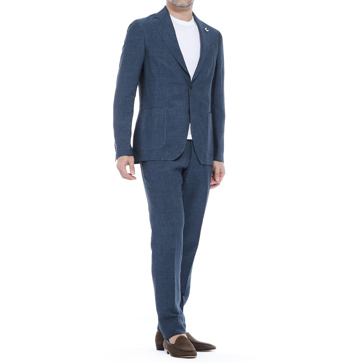 ラルディーニ LARDINI 2つボタンスーツ ブルー メンズ 大きいサイズあり ei077av eia54423 604 SUIT EASY ITALIAN FIT 【あす楽対応_関東】【返品送料無料】