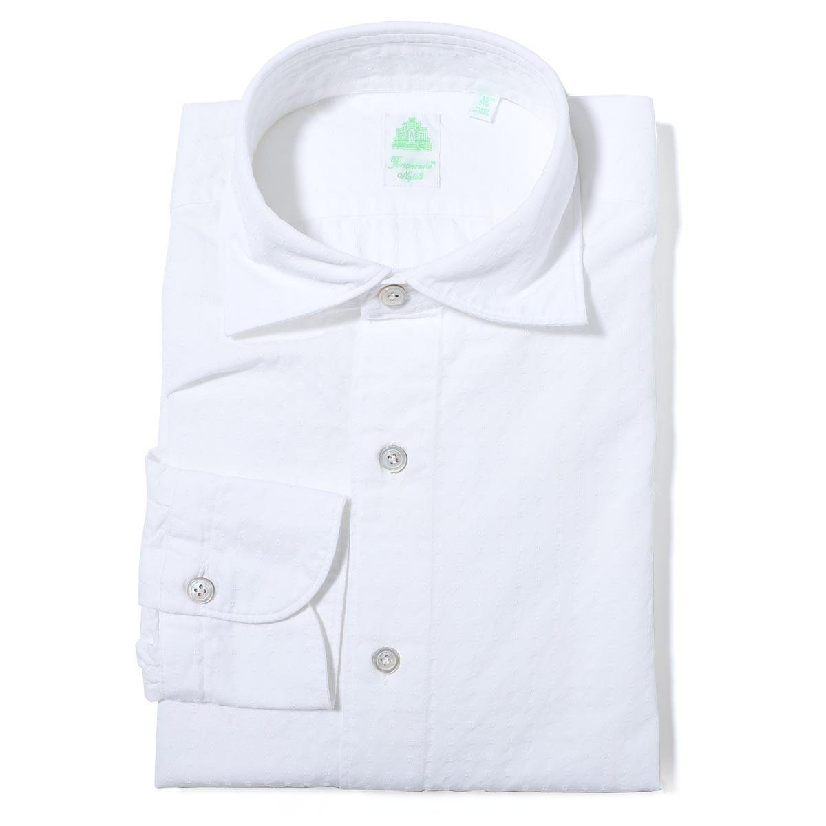 【アウトレット】【ラスト1点】フィナモレ FINAMORE ワイドカラーシャツ ホワイト メンズ luigi z 080103 p2232 04 LUIGI ルイジ【あす楽対応_関東】【返品送料無料】【ラッピング無料】[outnew]