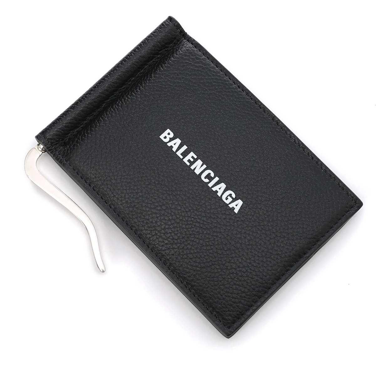 バレンシアガ BALENCIAGA マネークリップ ブラック メンズ 594308 1iz43 1090 CASH BILL CLIP SQUARE WALLET【_関東】【返品送料無料】【ラッピング無料】